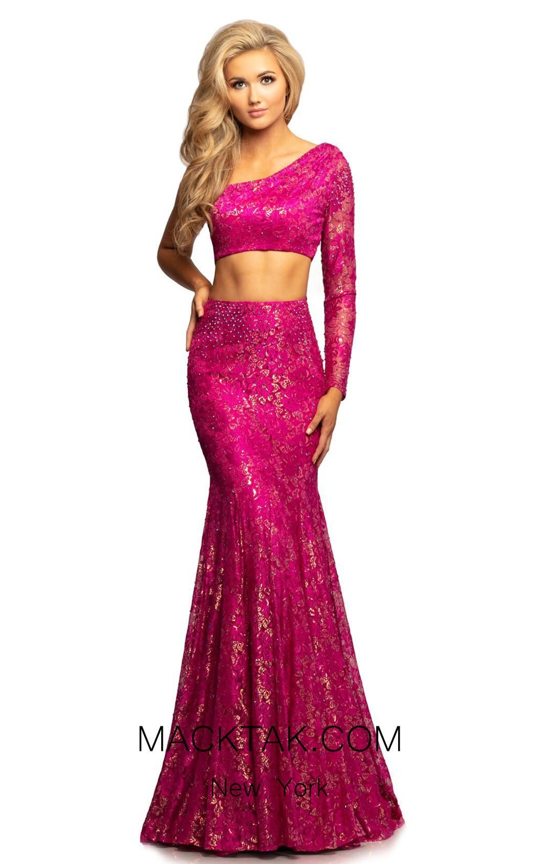 Johnathan Kayne 2039 Magenta Front Dress