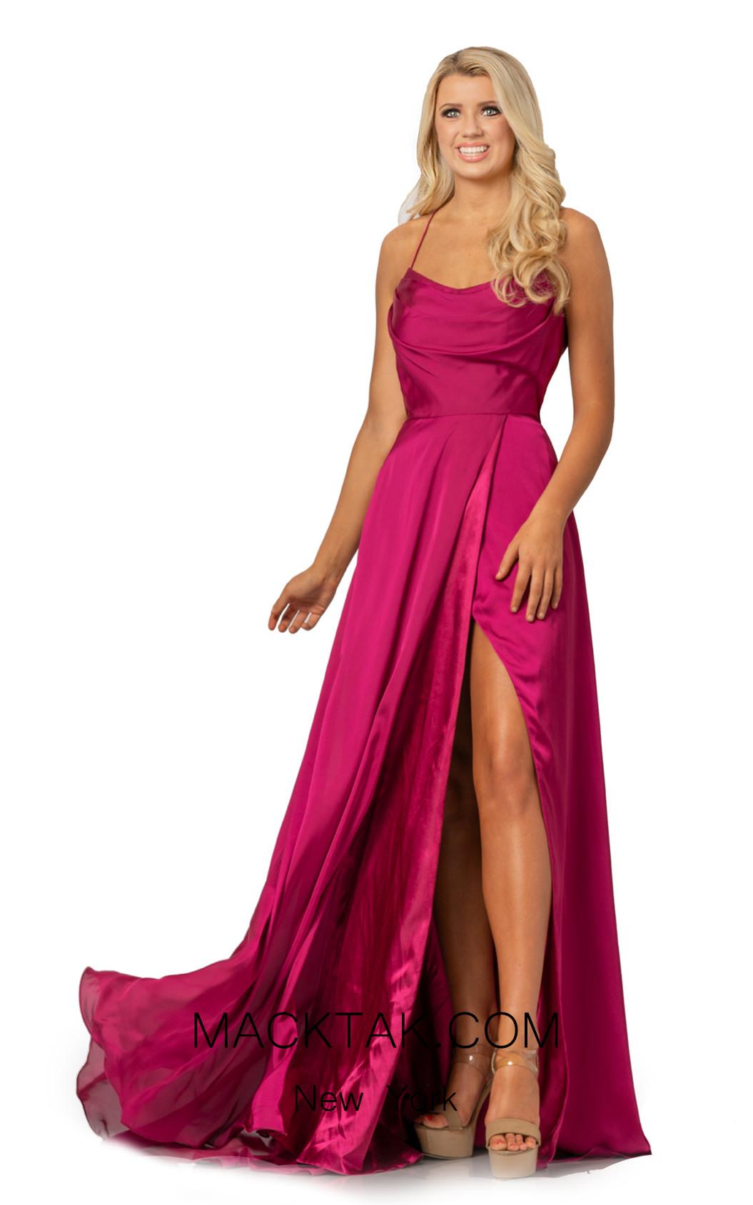Johnathan Kayne 2079 Raspberry Front Dress