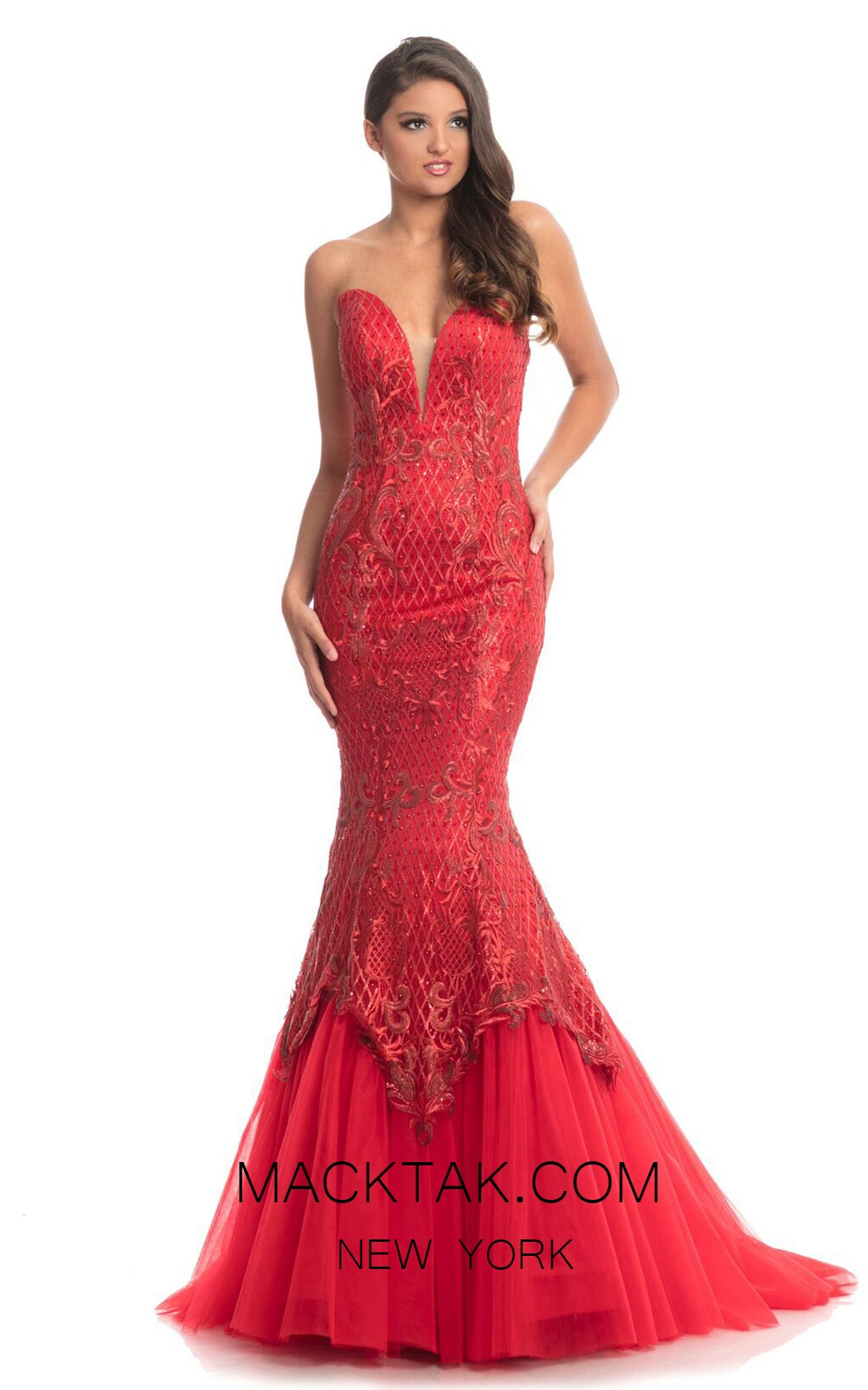 Johnathan Kayne 9001 Red Front Dress