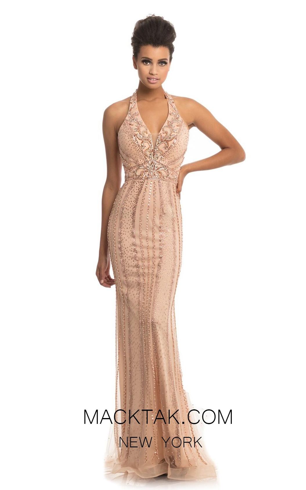 Johnathan Kayne 9004 Rose Gold Front Dress