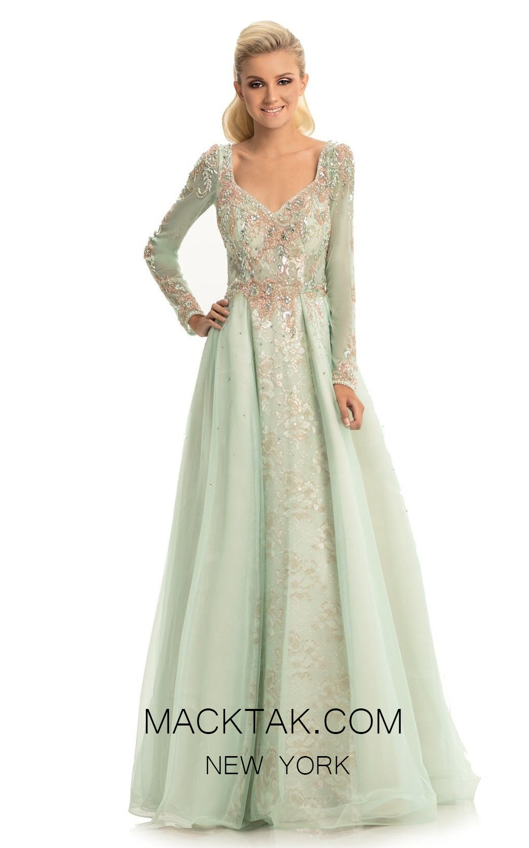 Johnathan Kayne 9009 Mint Front Dress