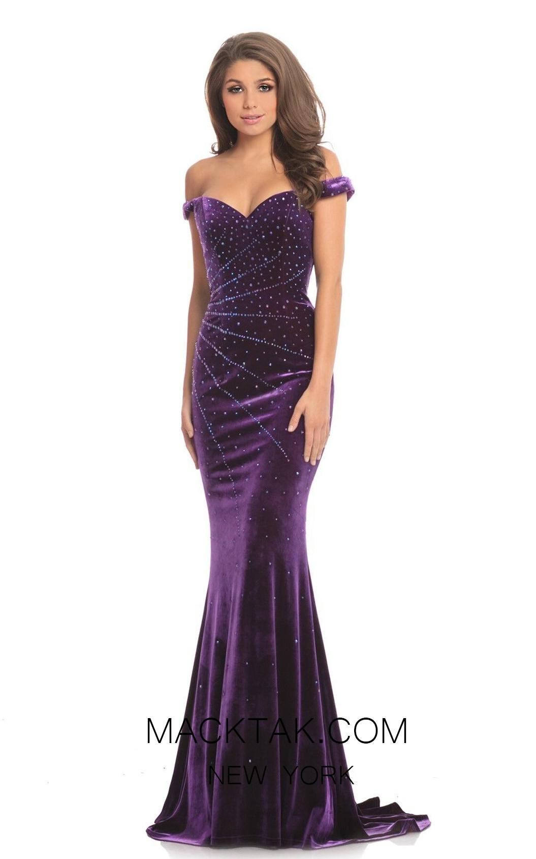 Johnathan Kayne 9011 Purple Front Dress