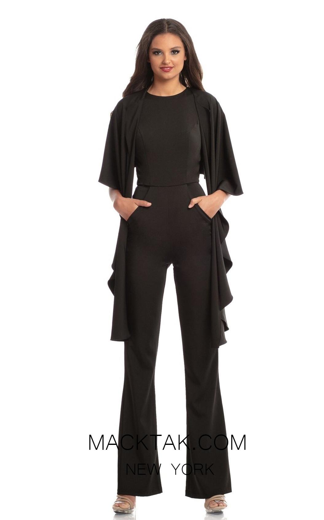 Johnathan Kayne 9083 Black Front Dress