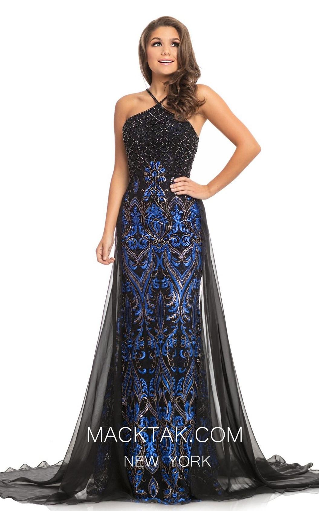 Johnathan Kayne 9088 Black Royal Front Dress