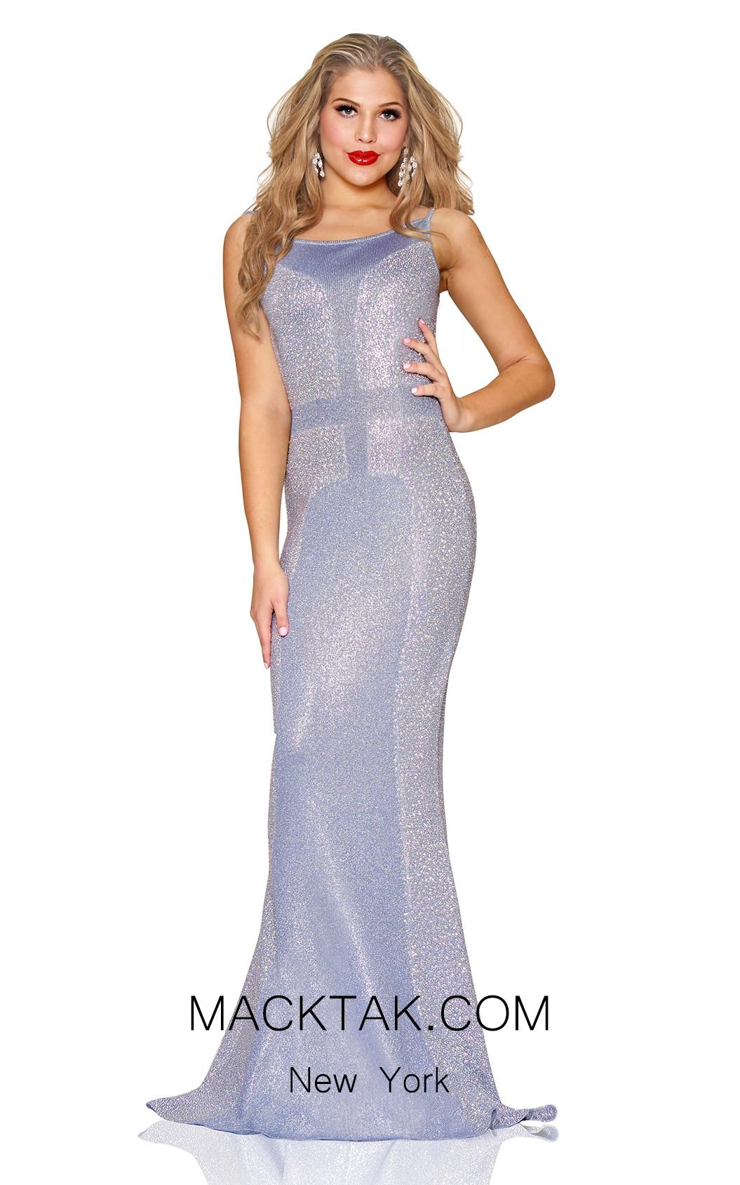 Kourosh Evening 80126 Gray Front Dress