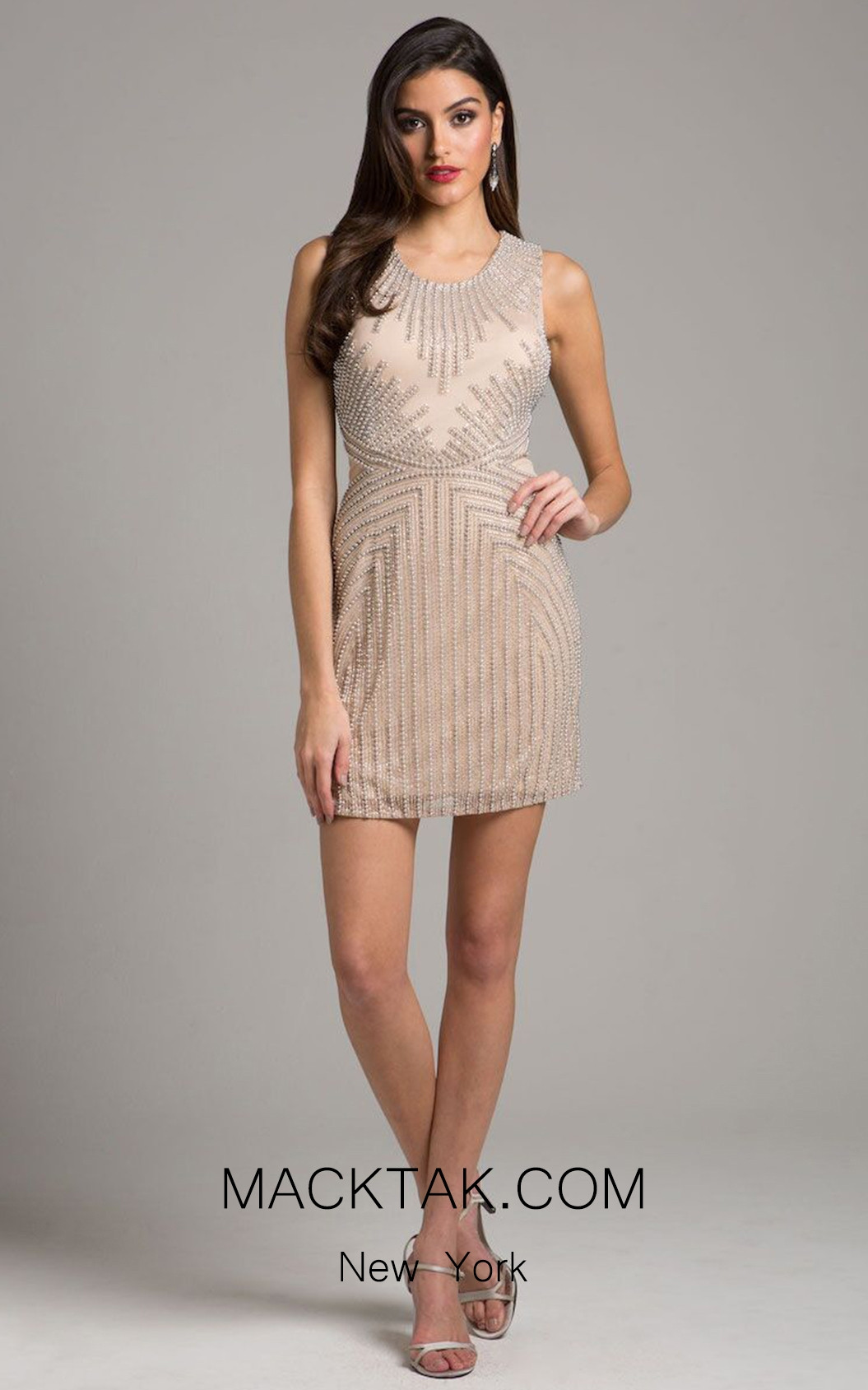 Lara 29903 Champagne Front Dress