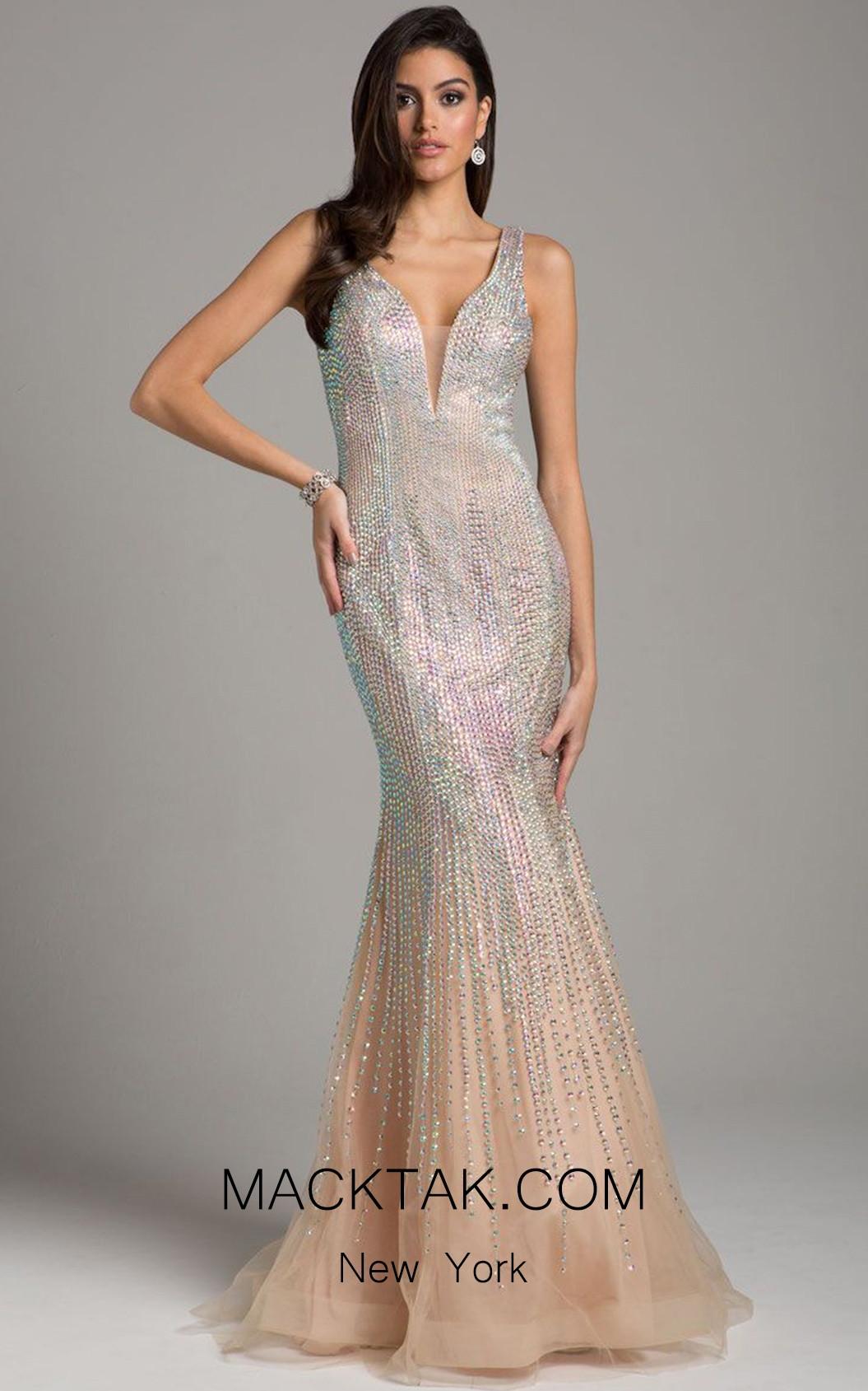 Lara 33615 Champagne Front Dress