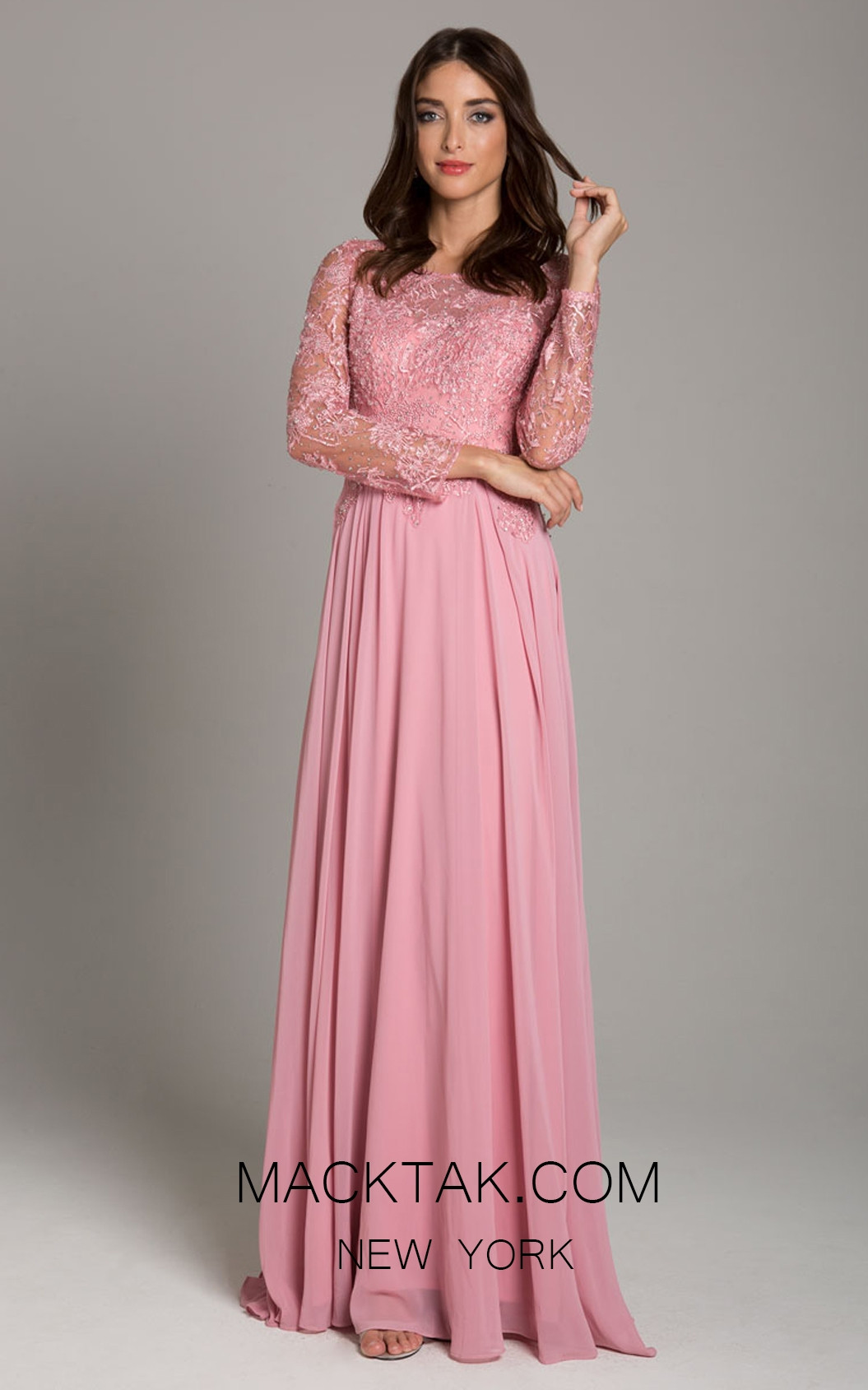 Lara 29920 Light Pink Front Dress