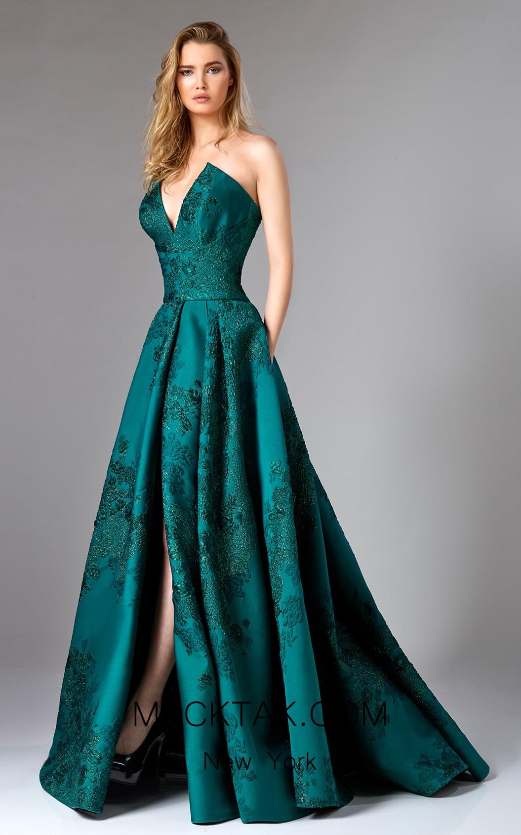 Edward Arsouni FW0306 Emerald Front Dress