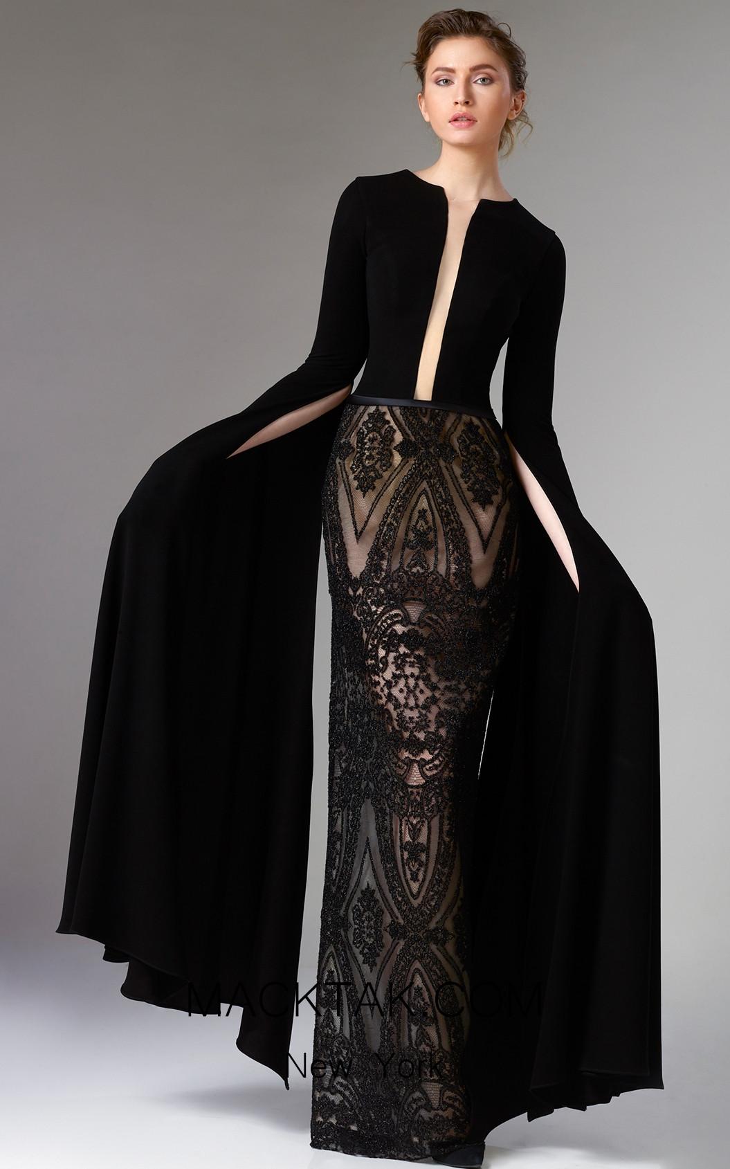 Edward Arsouni FW0317 Black Front Dress