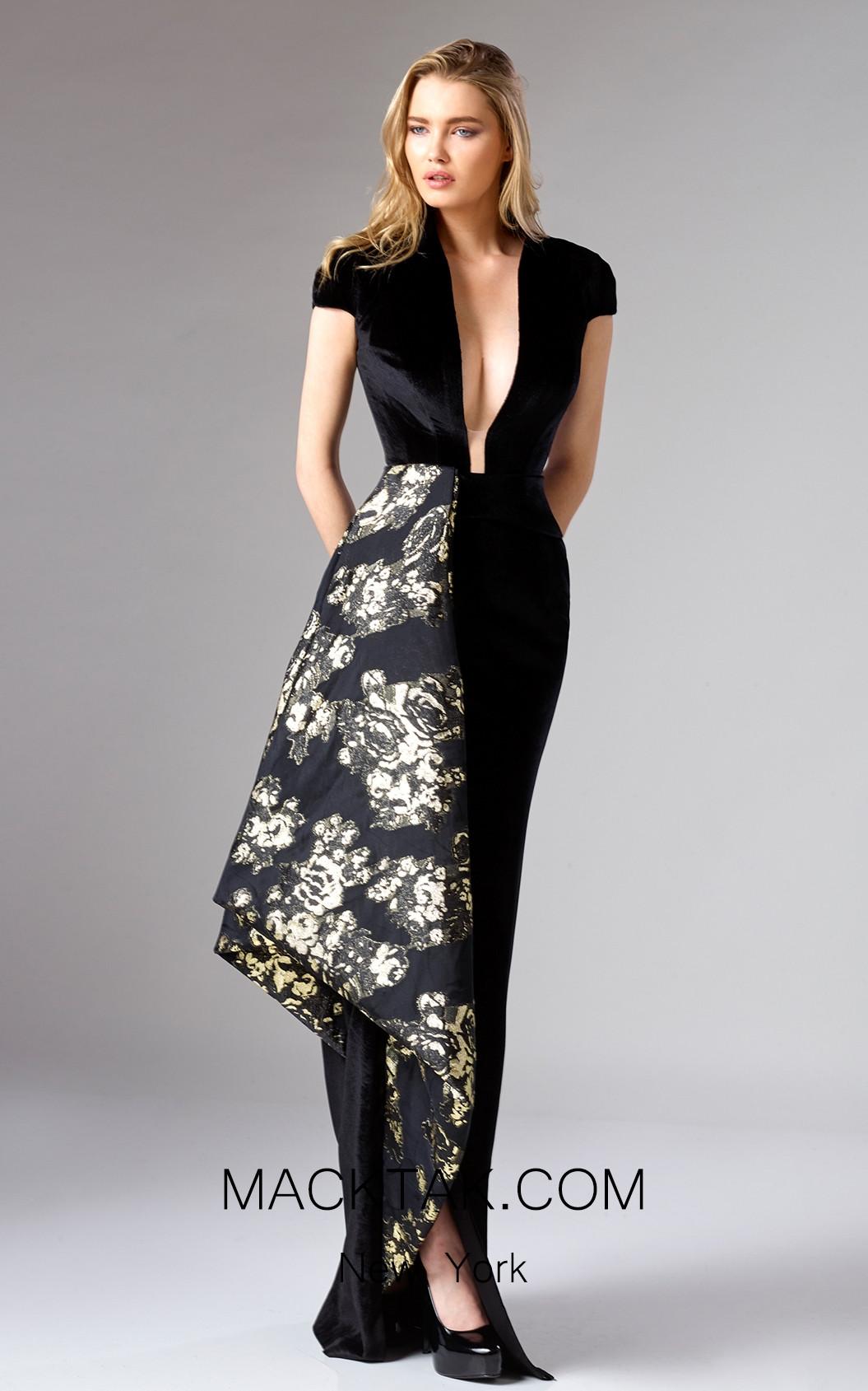 Edward Arsouni FW0324 Black Front Dress