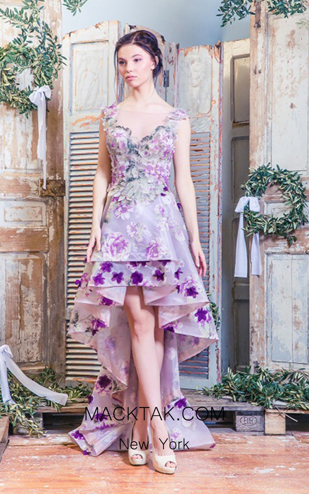 Missaki Couture MC3476 Print Dress