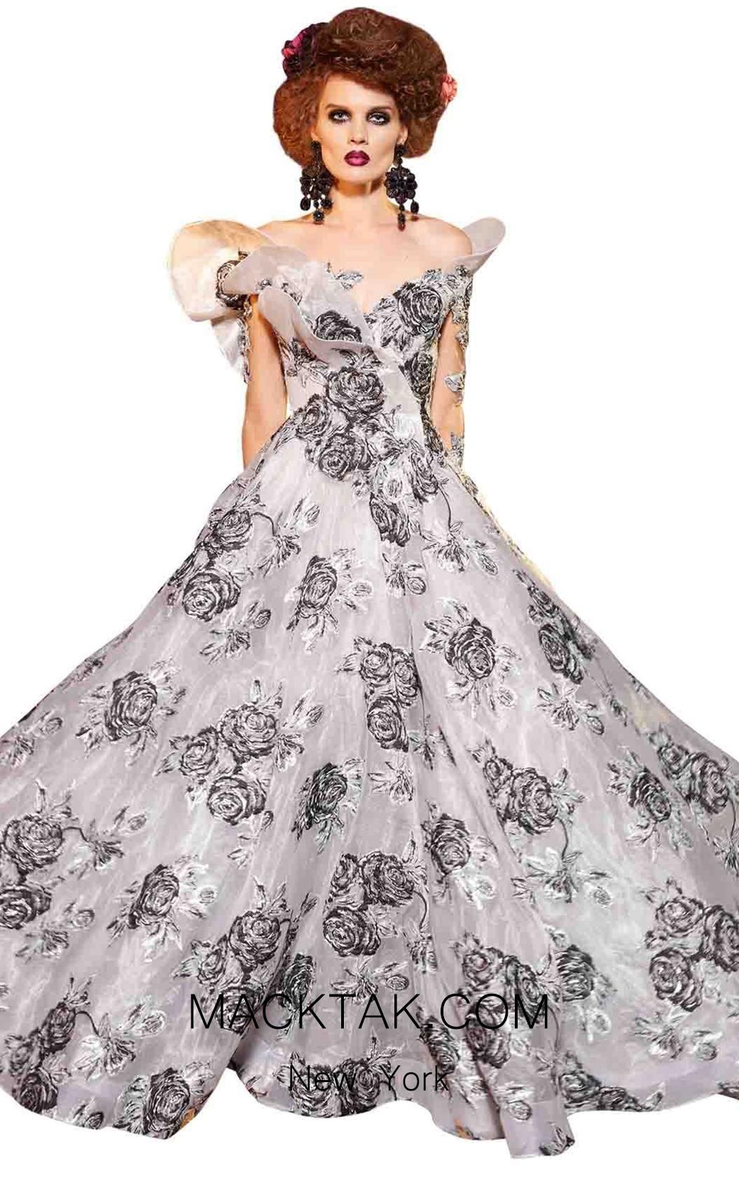 MNM Fouad Sarkis 2419 White Front Dress