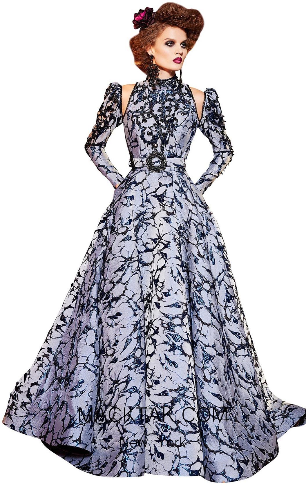 MNM Fouad Sarkis 2428 Blue Front Dress