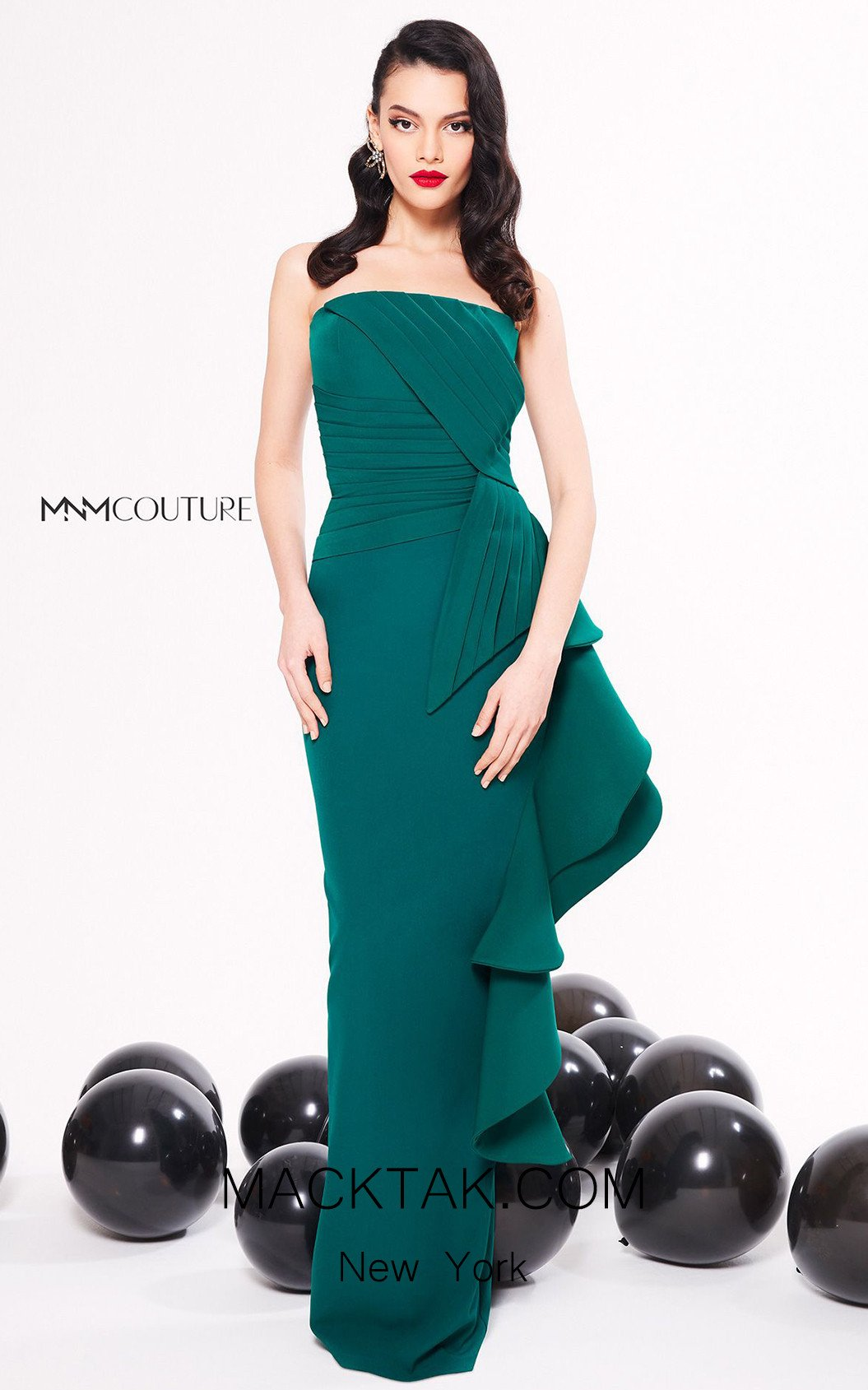 MNM Couture N0317 Green Front Dress