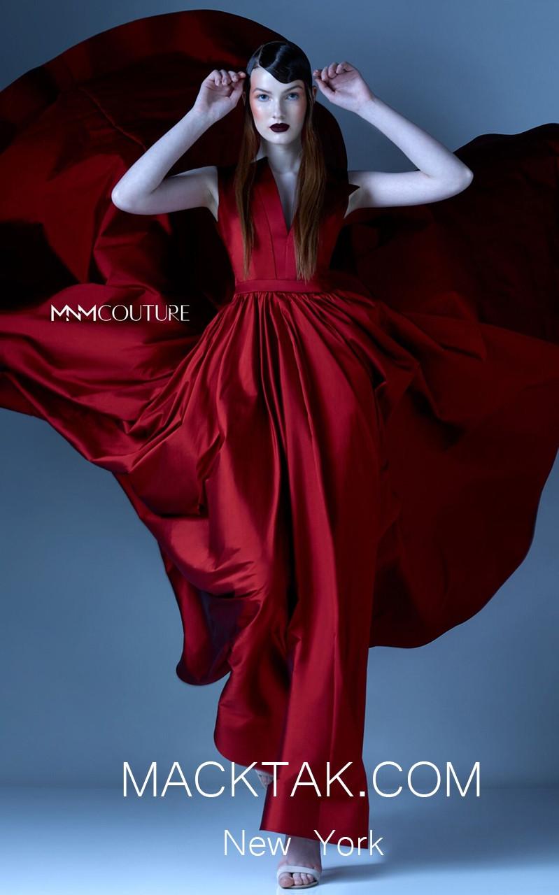 MNM G0933 Red Front Evening Dress