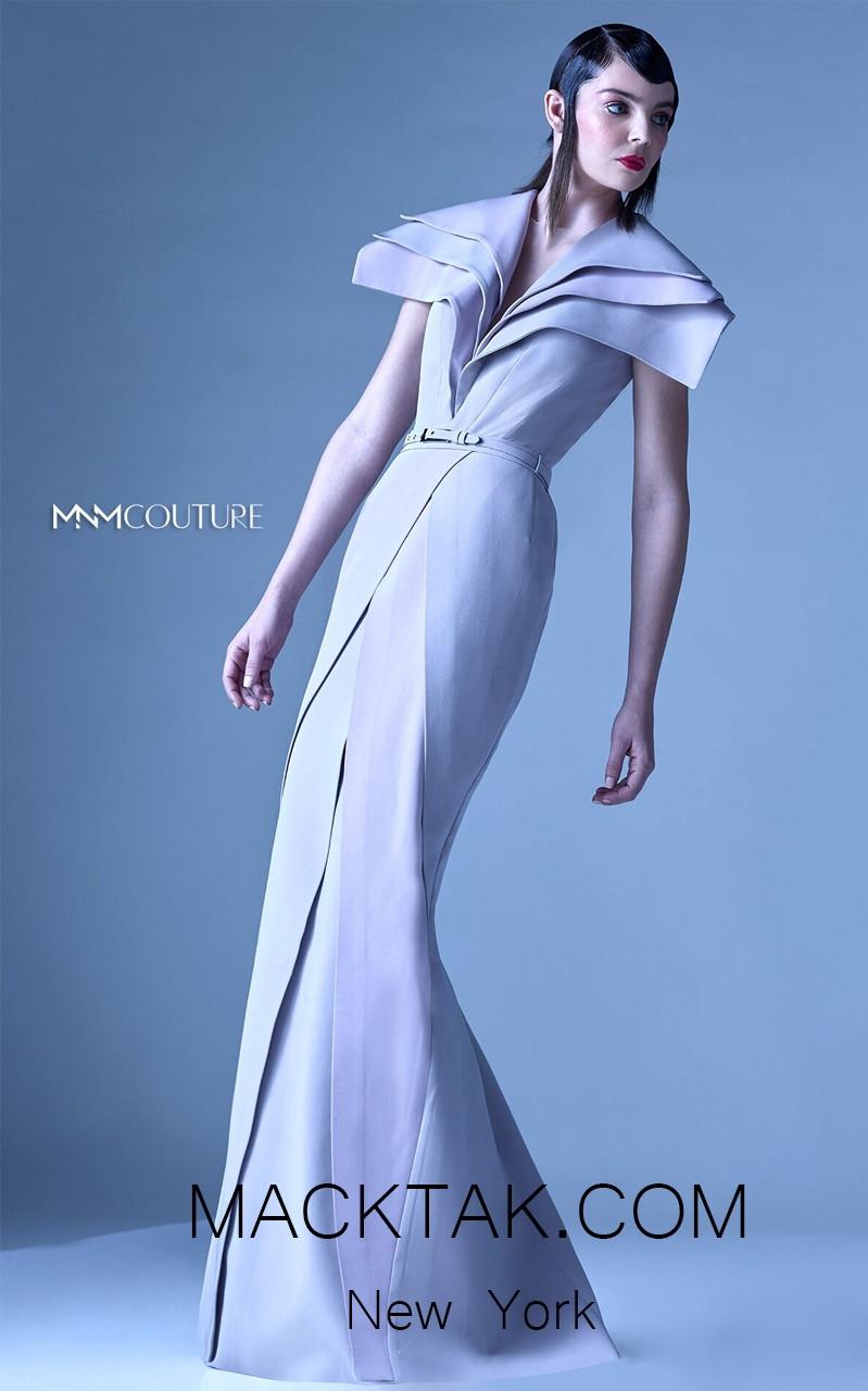 MNM G0946 Beige Front Evening Dress