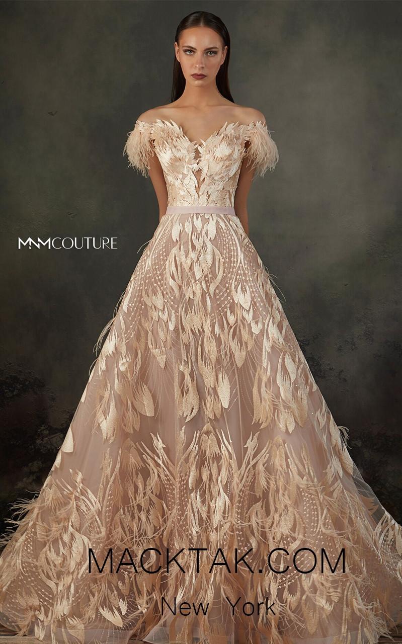MNM K3659 Salmon Front Evening Dress