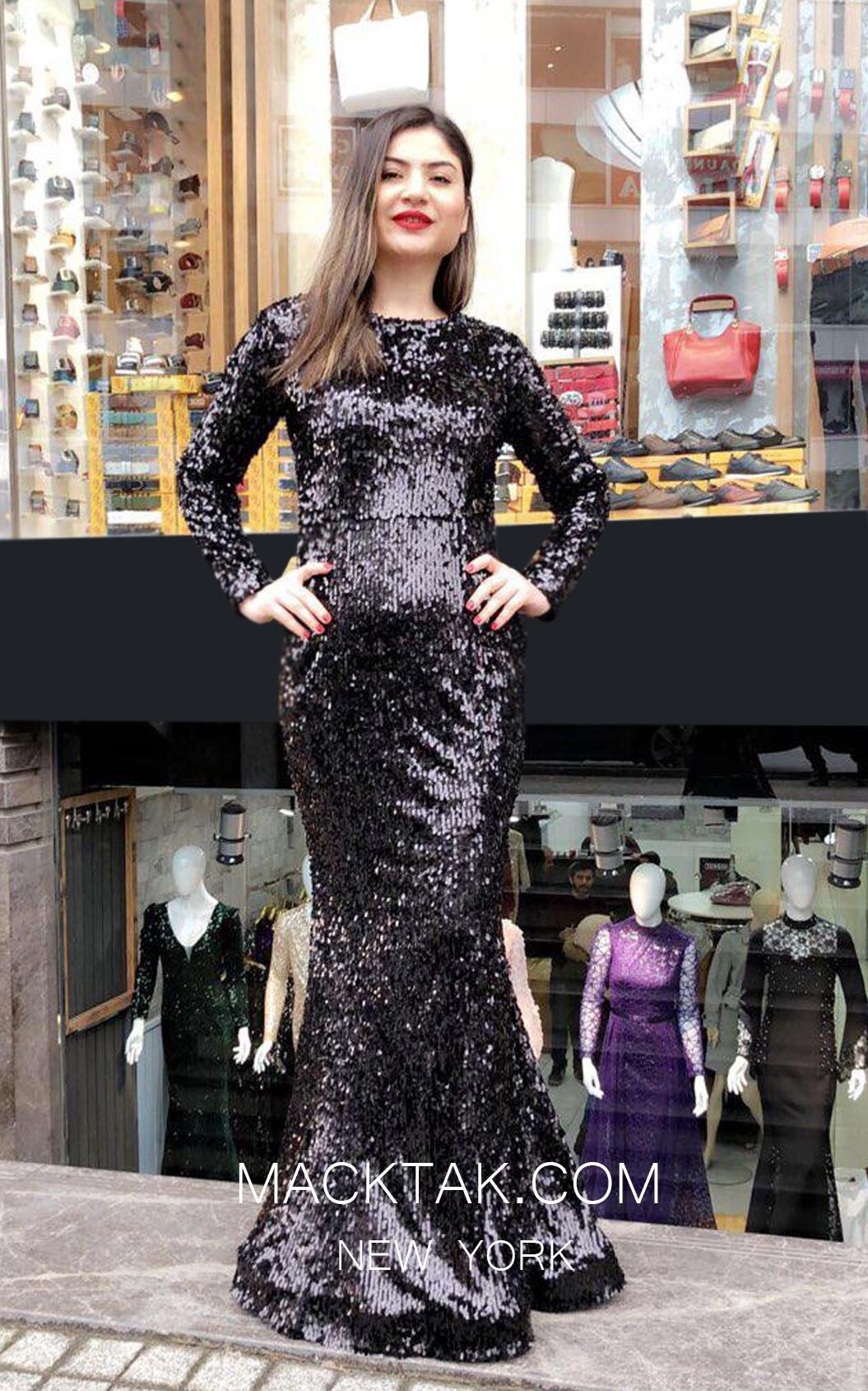 TK MT3999 Black Front Dress