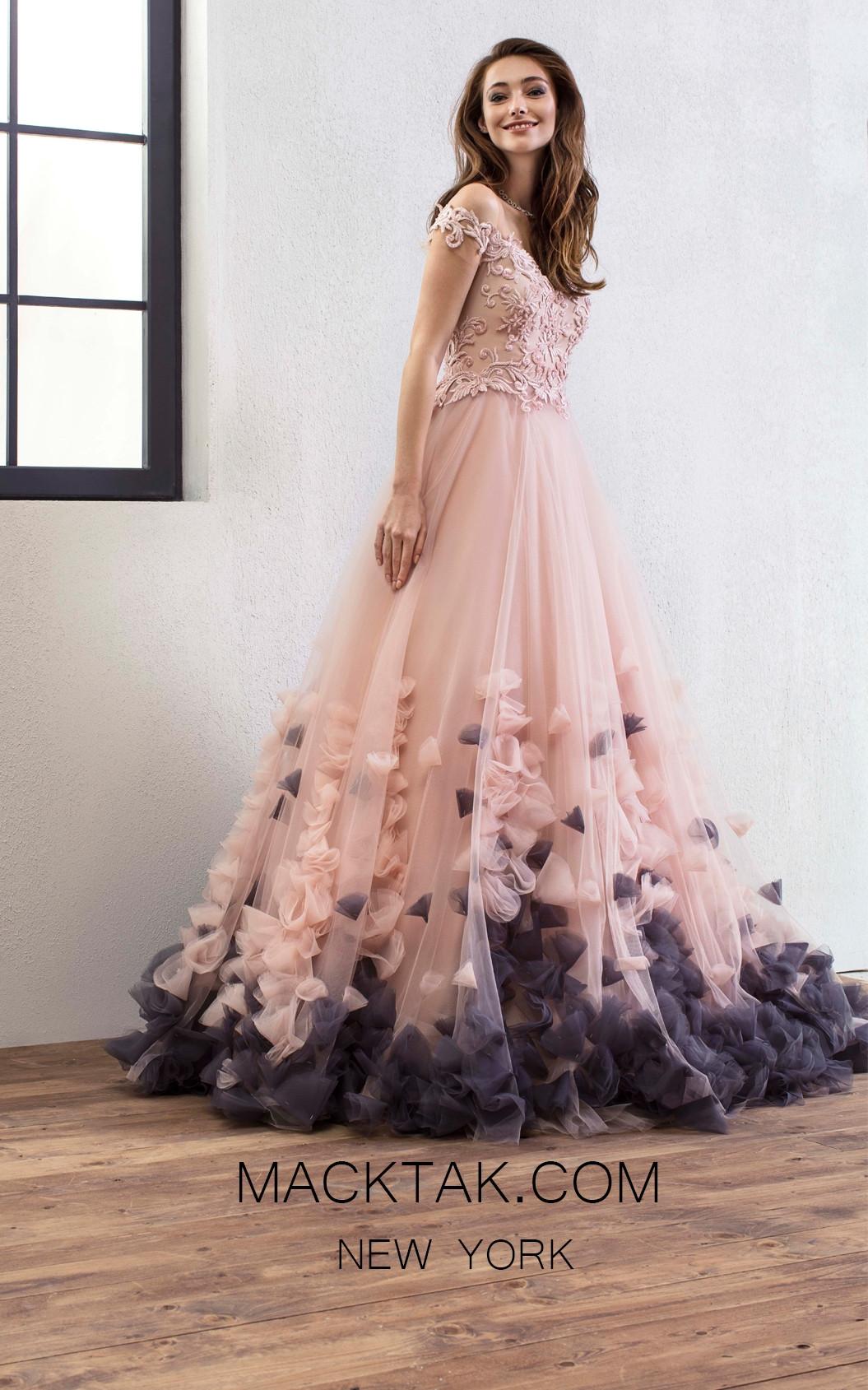 Omur Ozer 18751 Front Powder Dress
