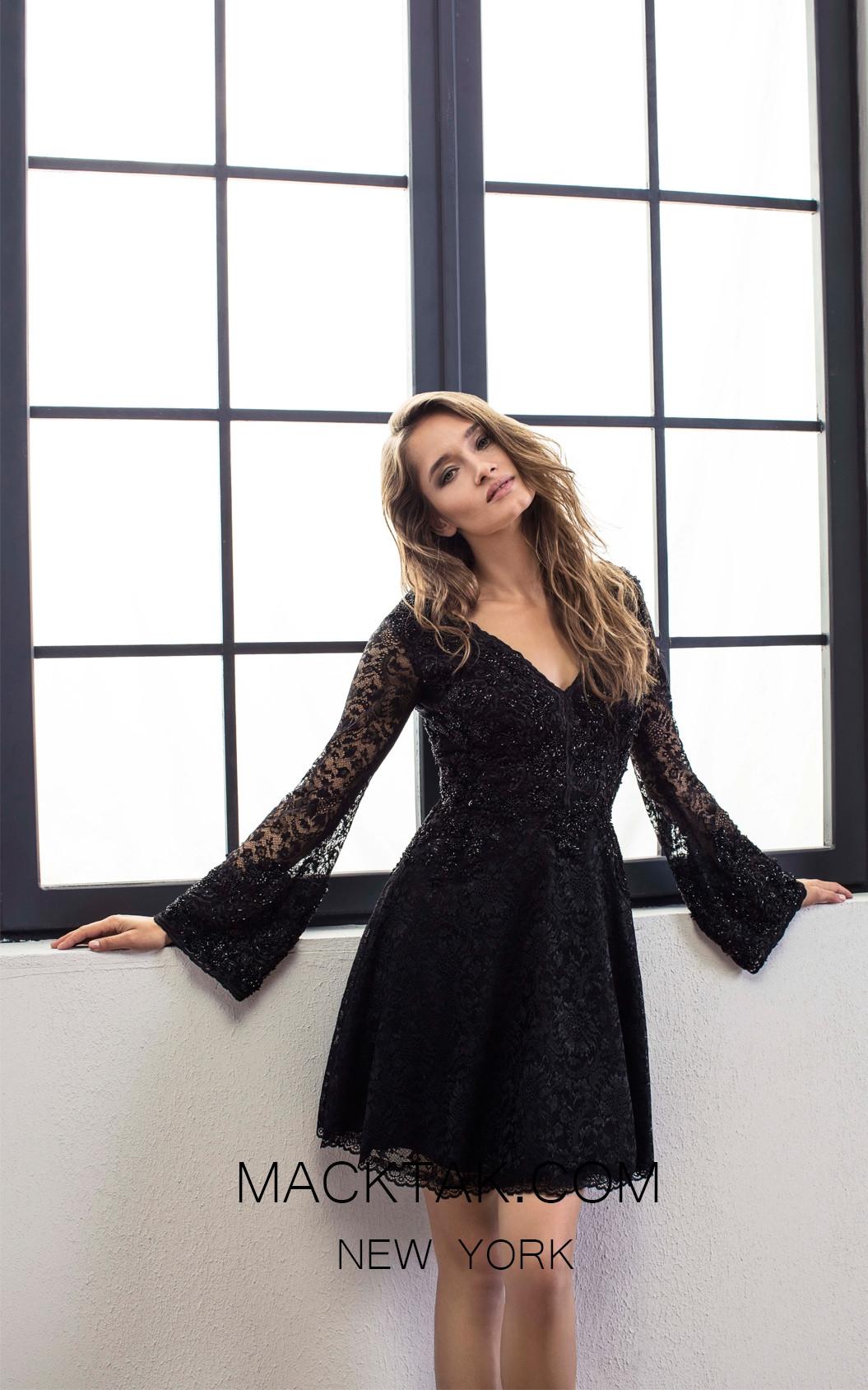 Omur Ozer 18793 Front Black Dress