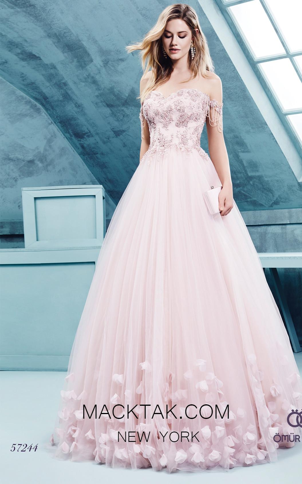 Omur Ozer 57244 Front Salmon Dress