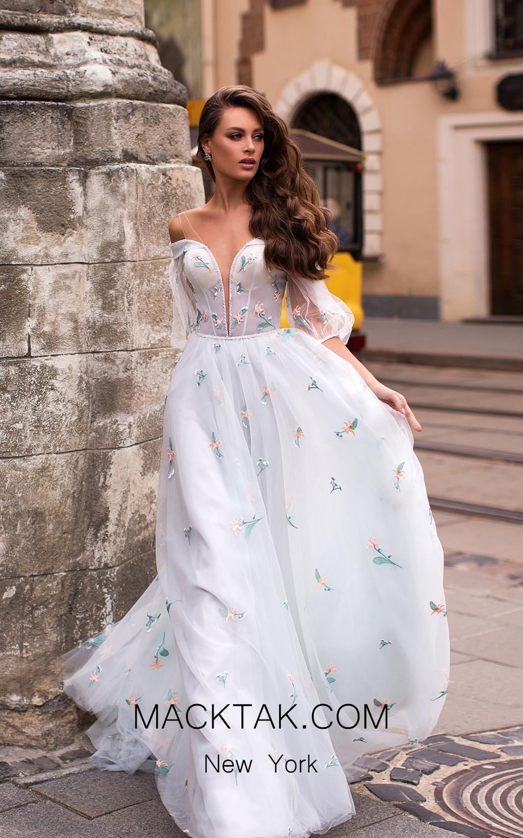Pollardi Naaz 5064 Mint Front Dress