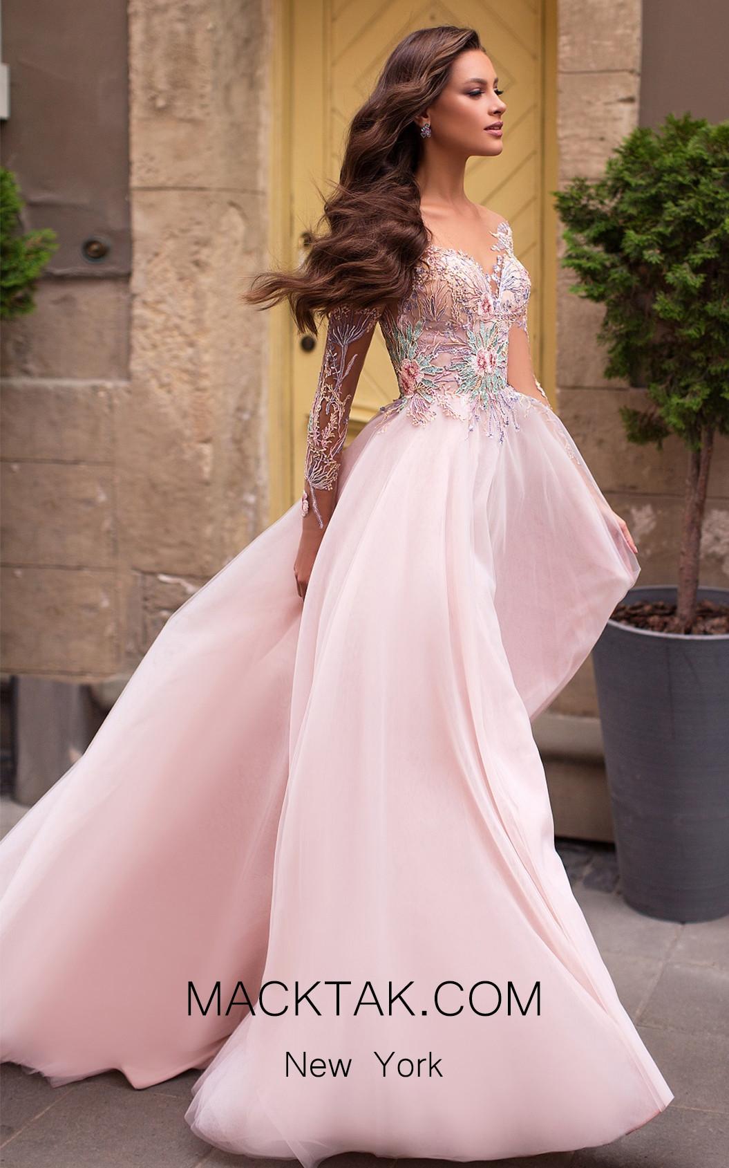 Pollardi Ximena 5080 Pink Front Dress