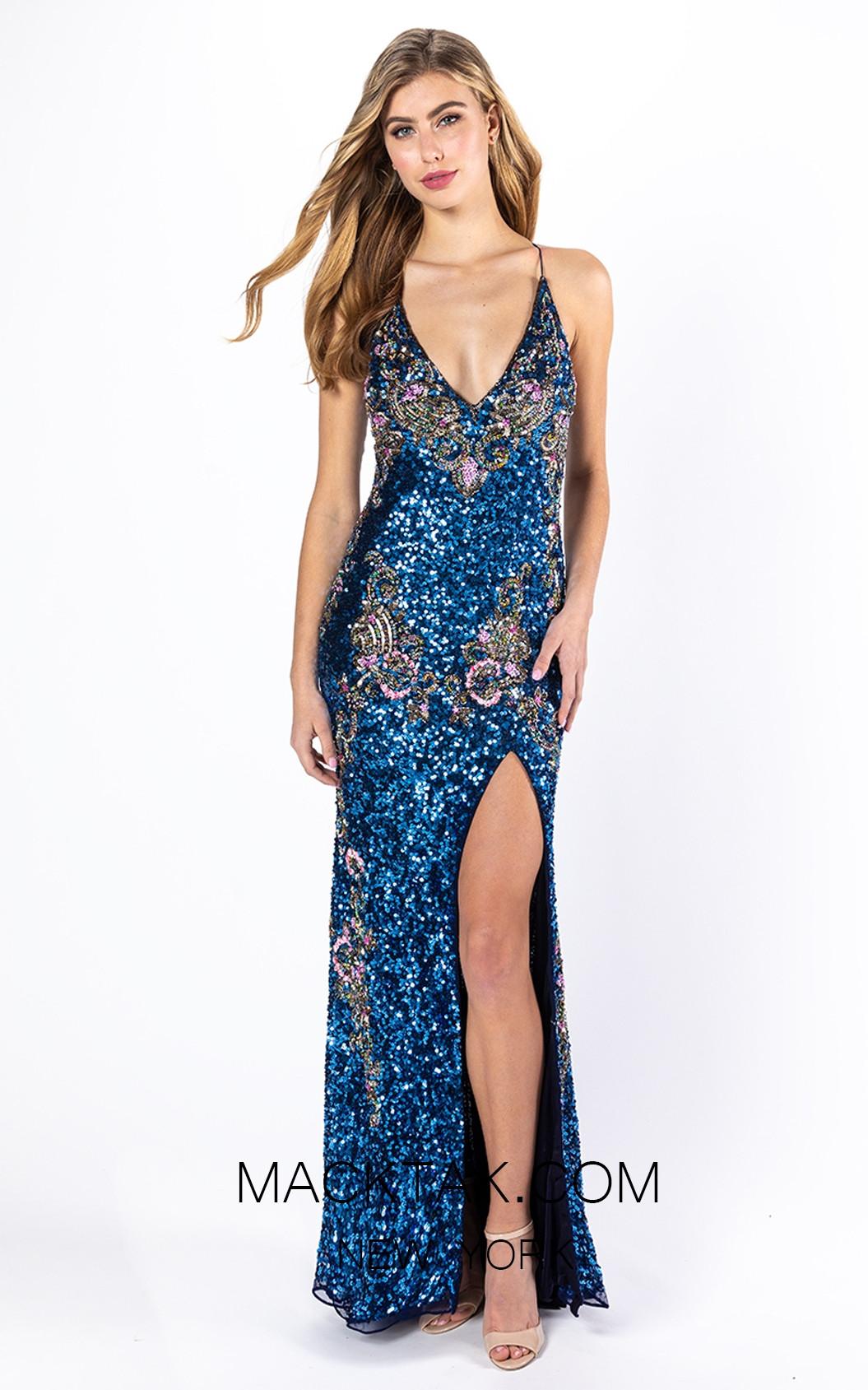 Primavera Couture 3211 Front Midnight Multi Dress
