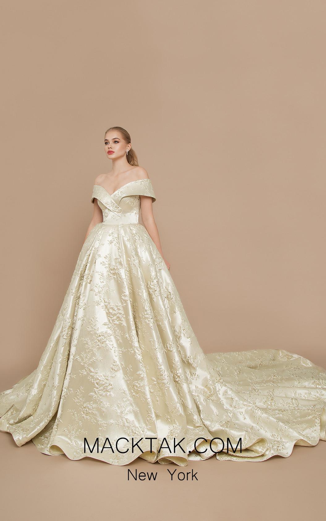 Ricca Sposa Marchesa Gold Ivory Front Dress