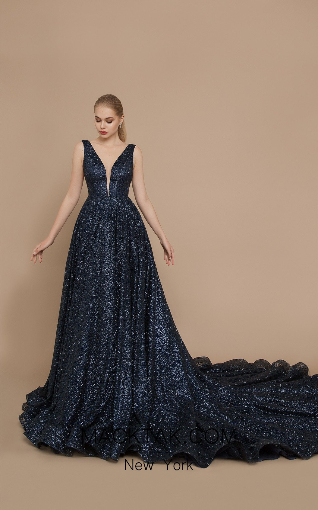 Ricca Sposa Moon Dark Blue Front Dress