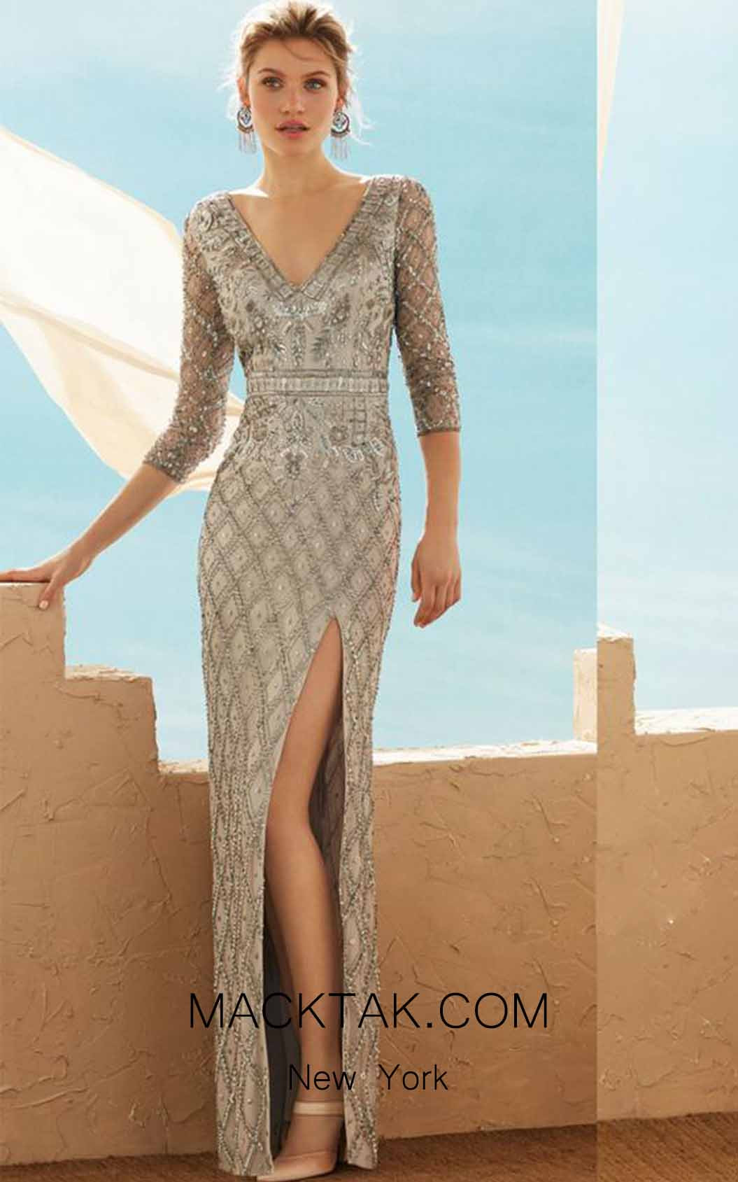 Rosa Clara Marfil 3J2C4 Front Dress