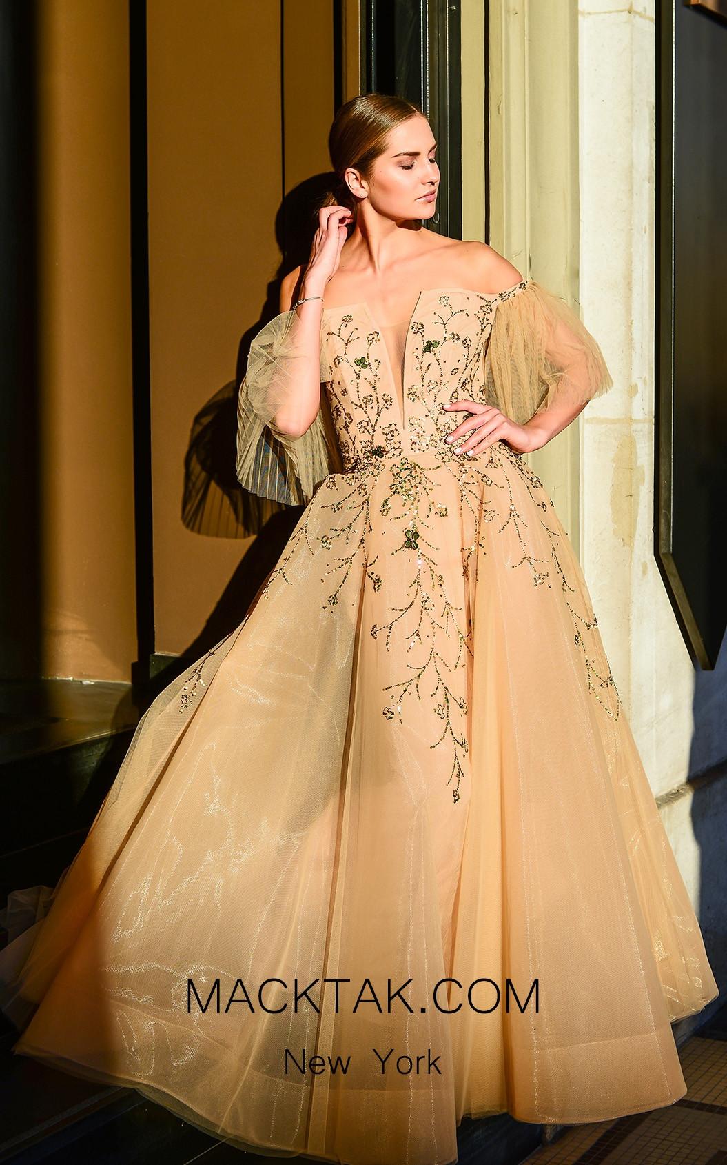 Sana Sabini 9258B Front Evening Dress