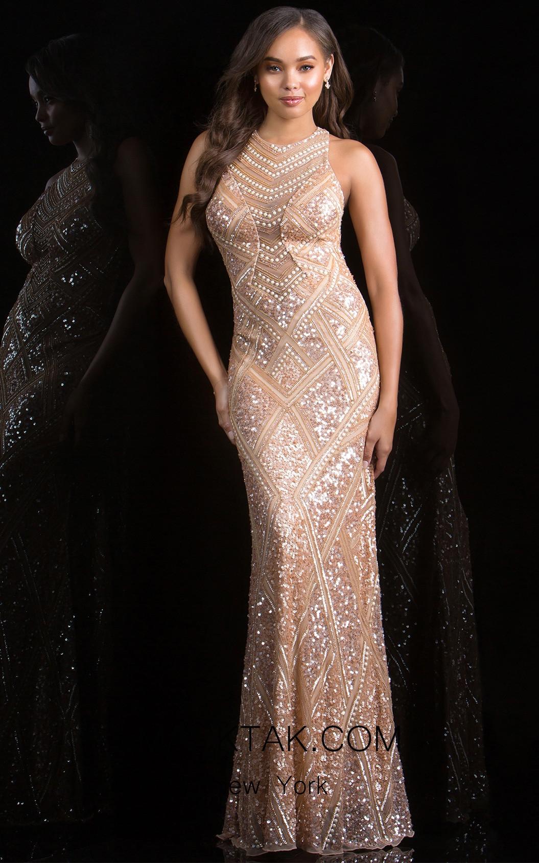 Scala 48688 Almond Front Evening Dress