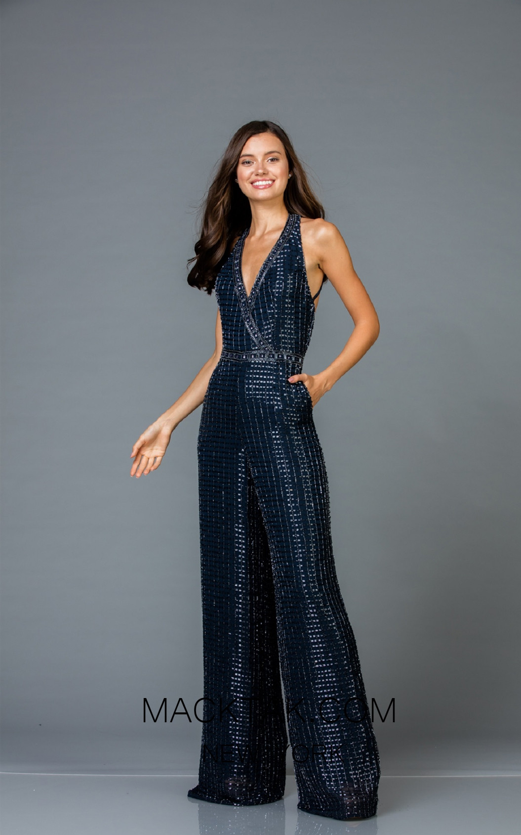 Scala 48941 Midnight Front Evening Dress