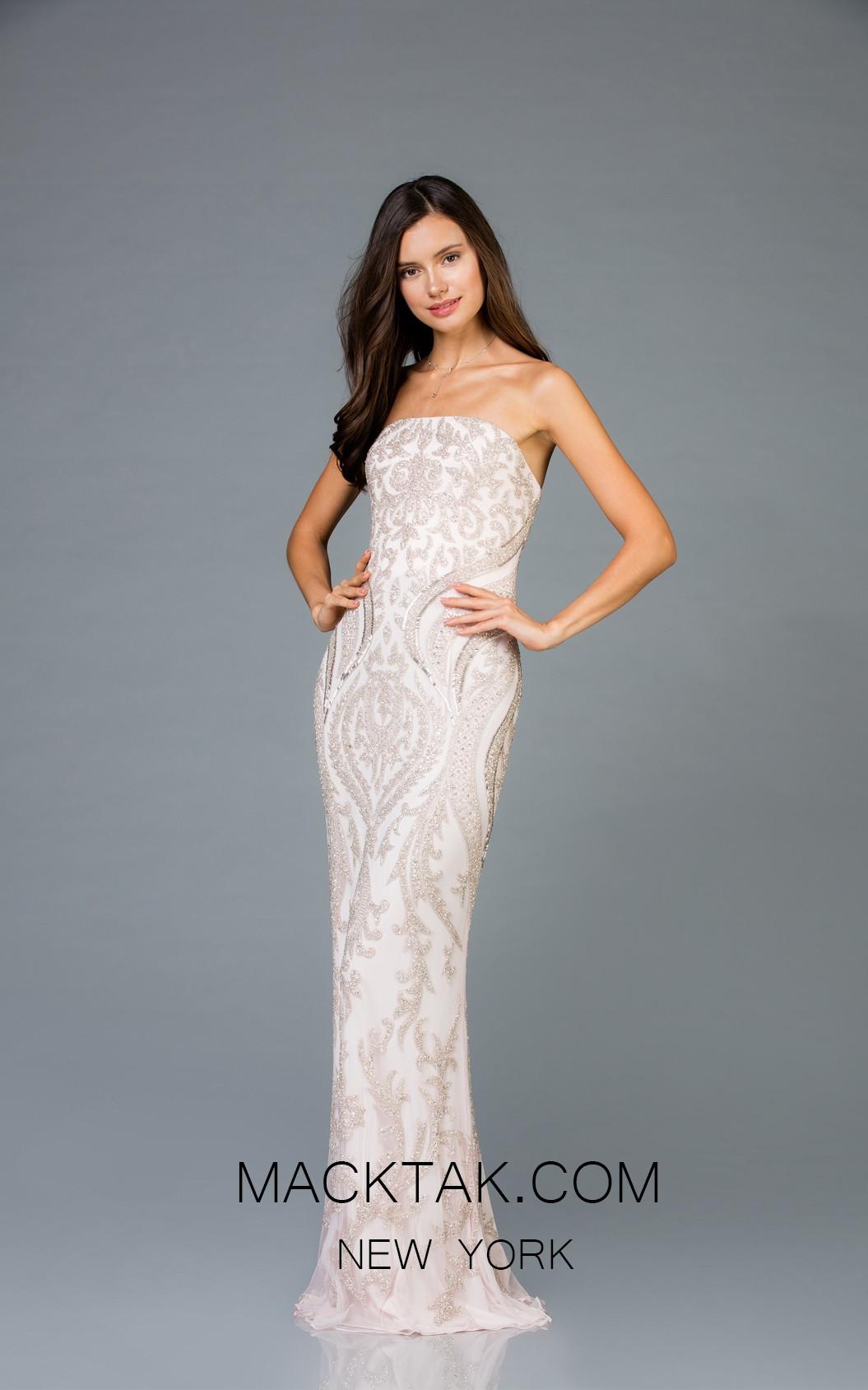 Scala 48950 Petal Front Evening Dress
