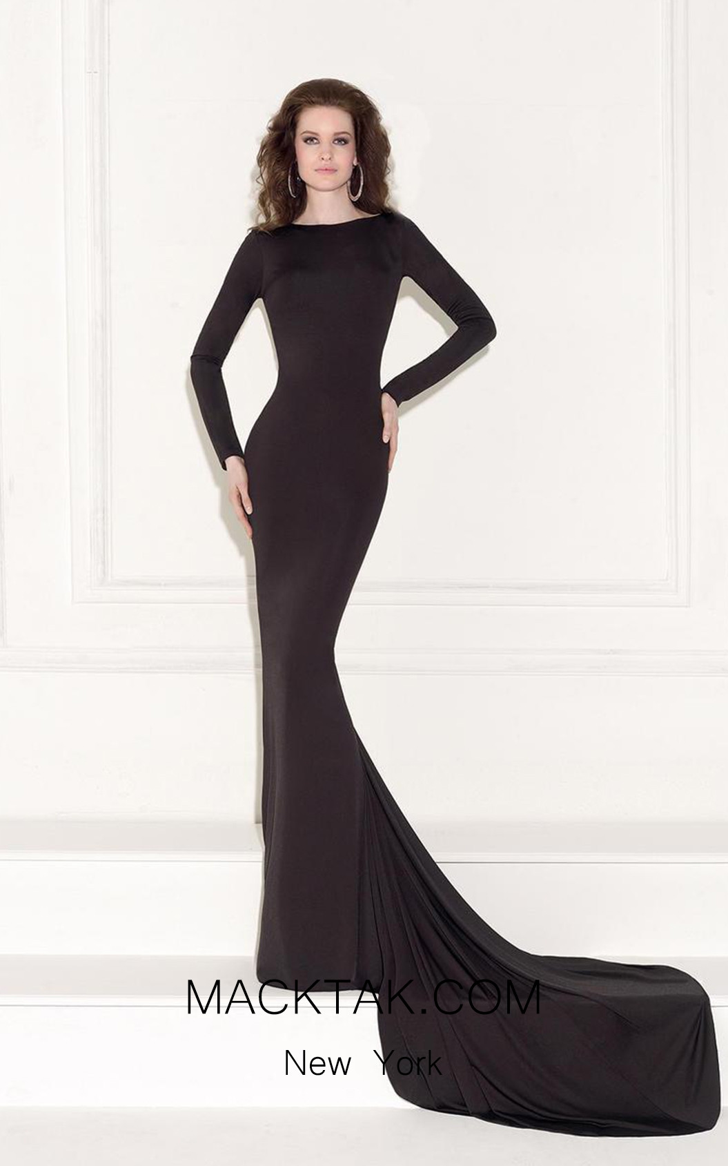 Tarik Ediz 92467 Front Black Dress
