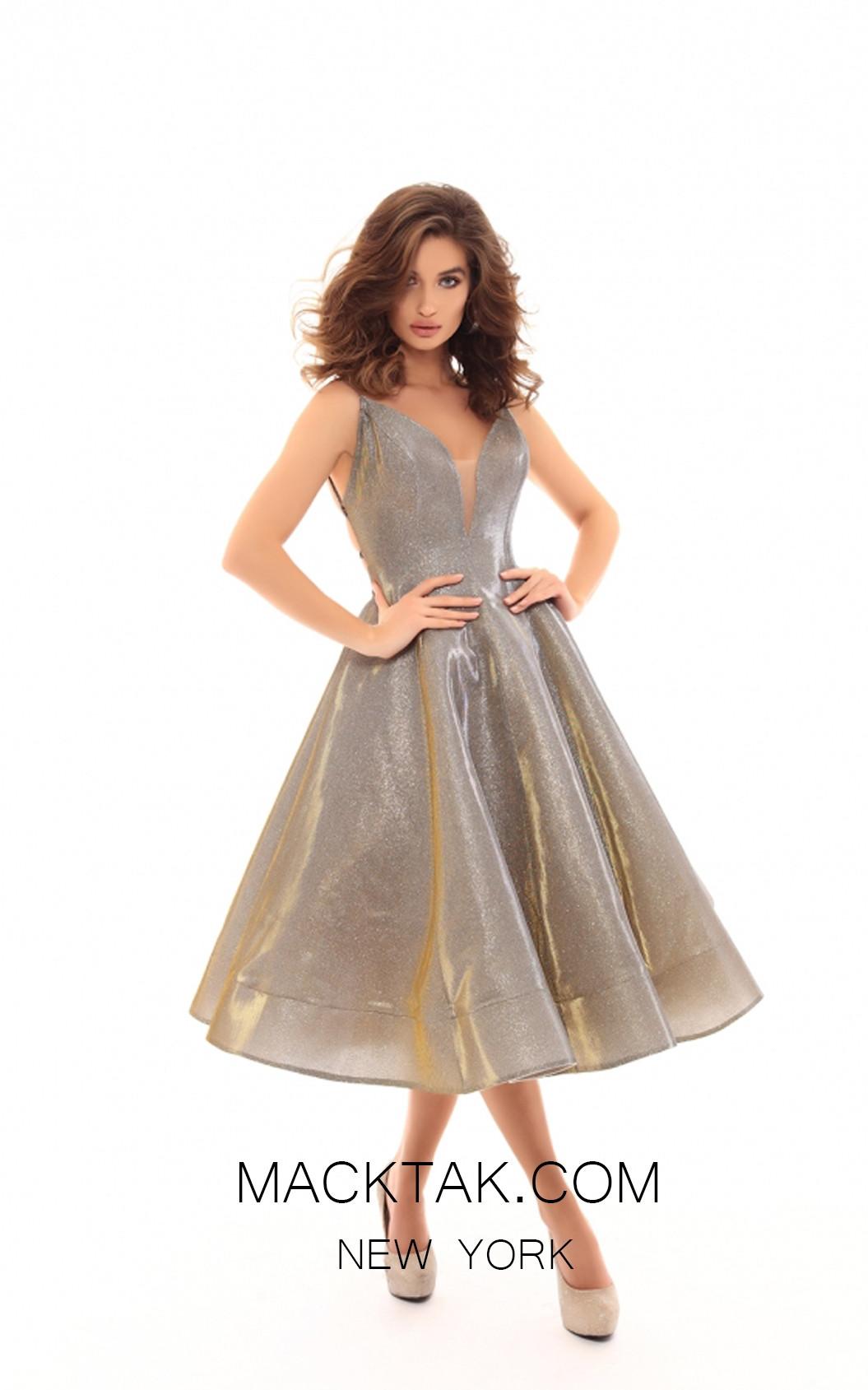 Tarik Ediz 50425 Mink Front Prom Dress