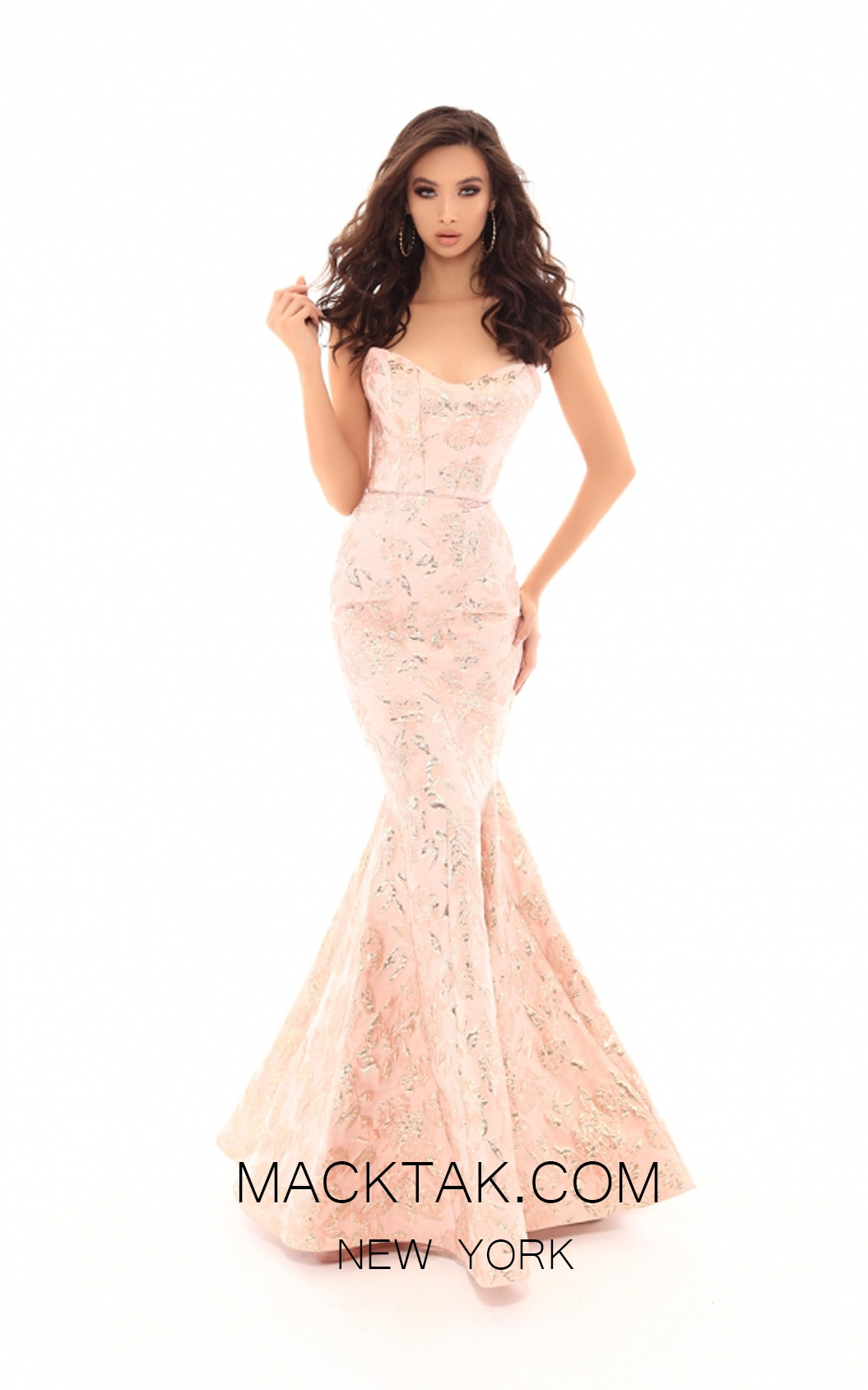 Tarik Ediz 50510 Pink Front Prom Dress