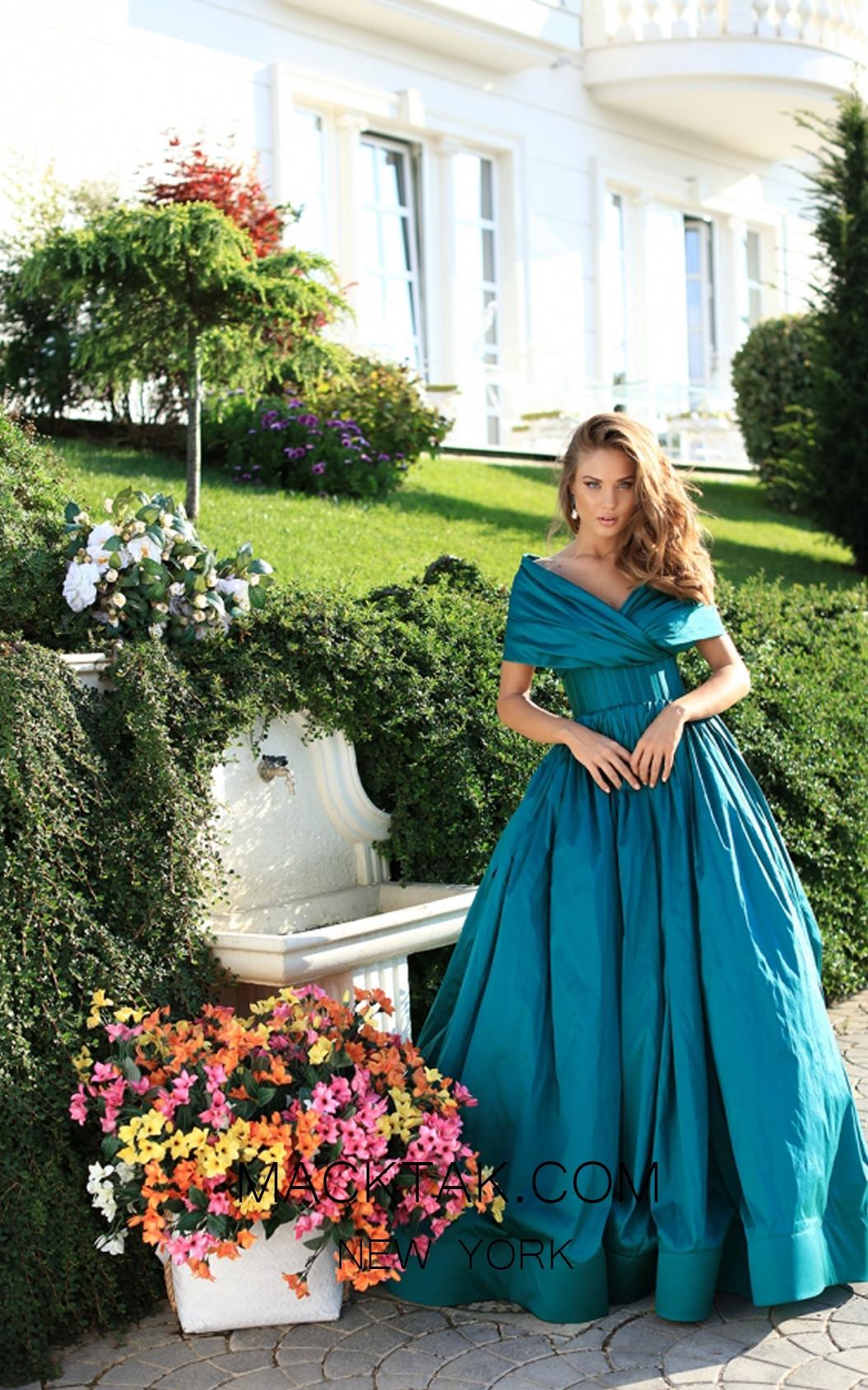 Tarik Ediz 50511 Emerald Front Prom Dress