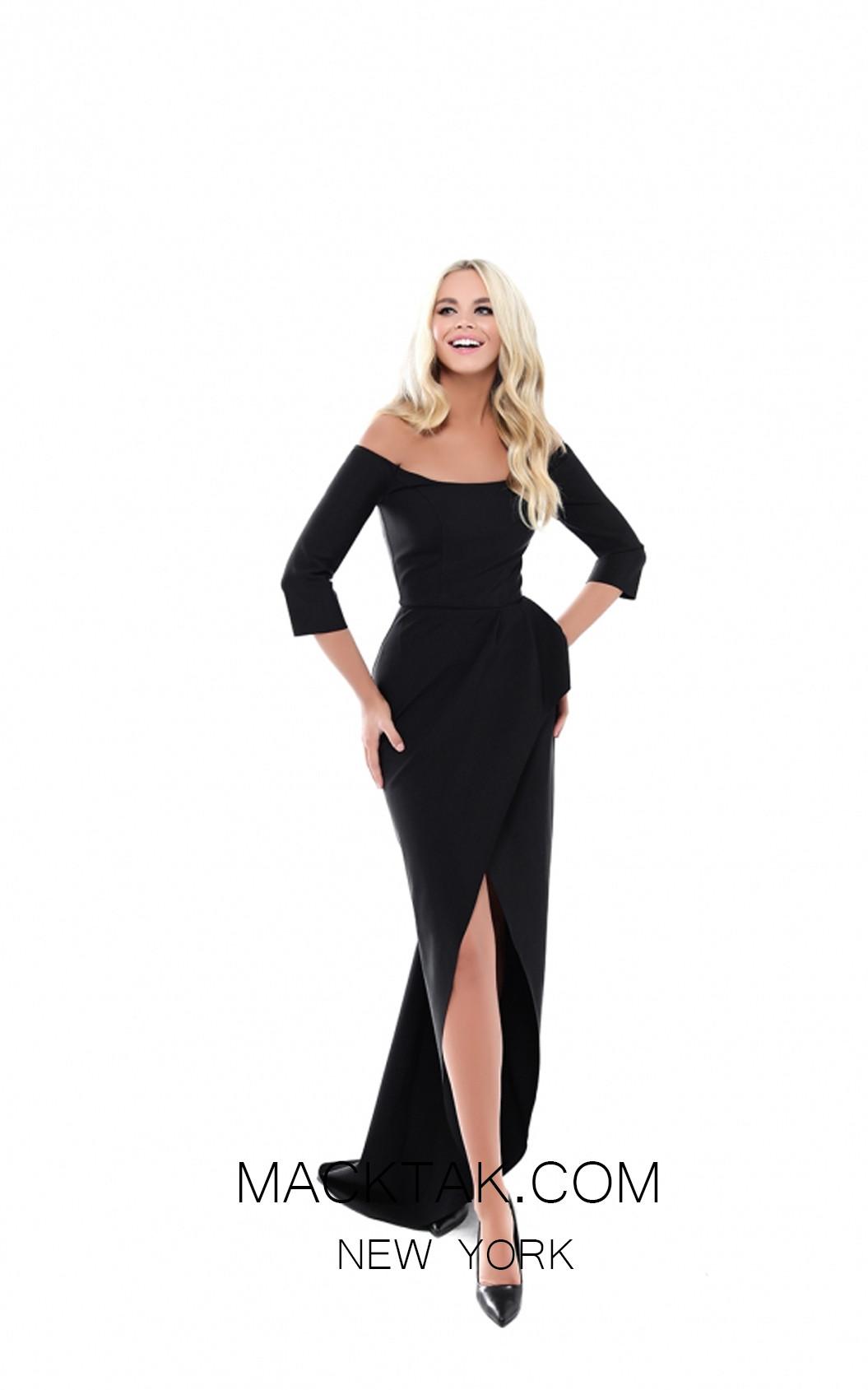 Tarik Ediz 50519 Black Front Prom Dress