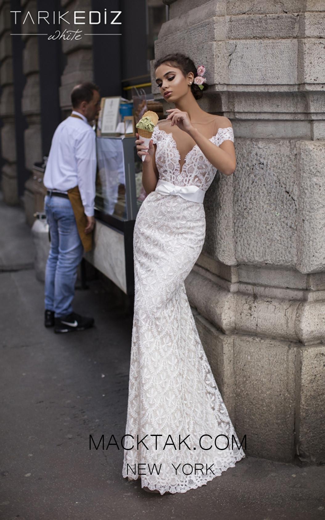 Tarik Ediz 93606 Ivory Front Prom Dress