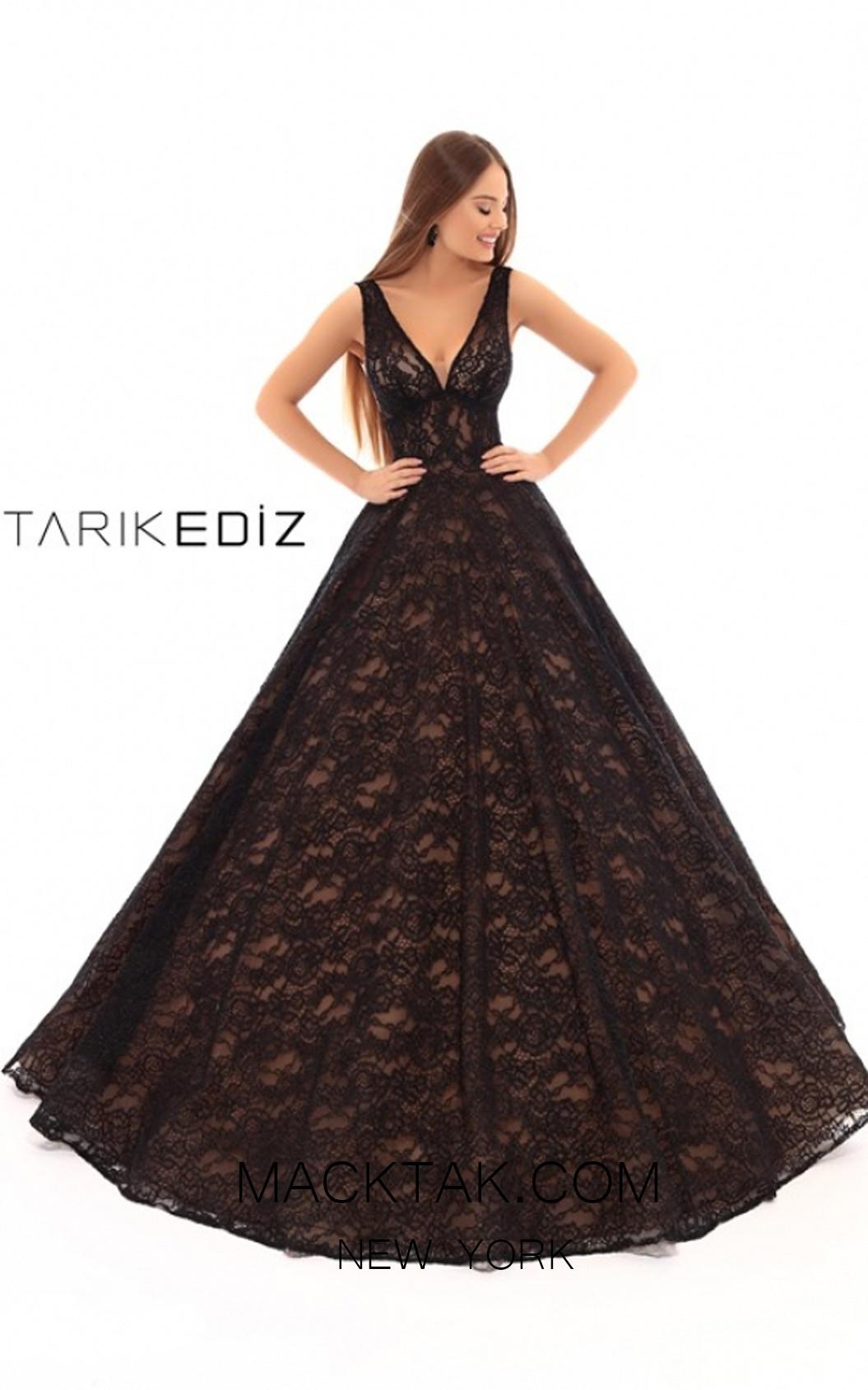 Tarik Ediz 93617 Black Front Prom Dress