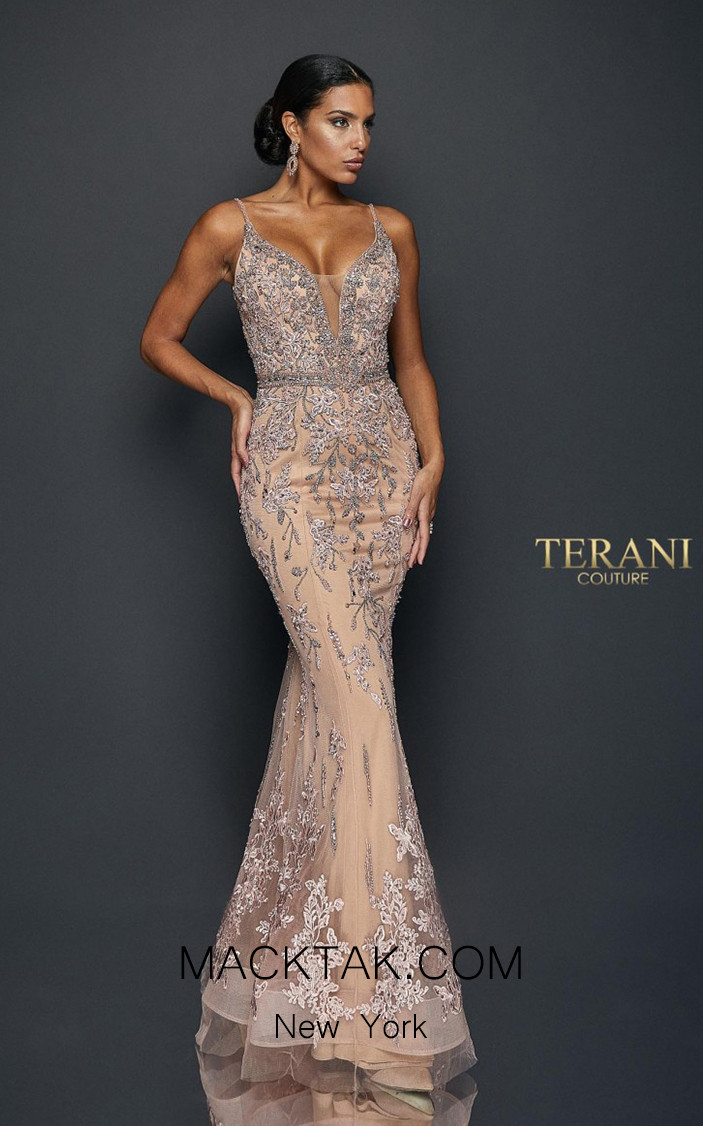 Terani Couture 1922GL0681 Front Dress