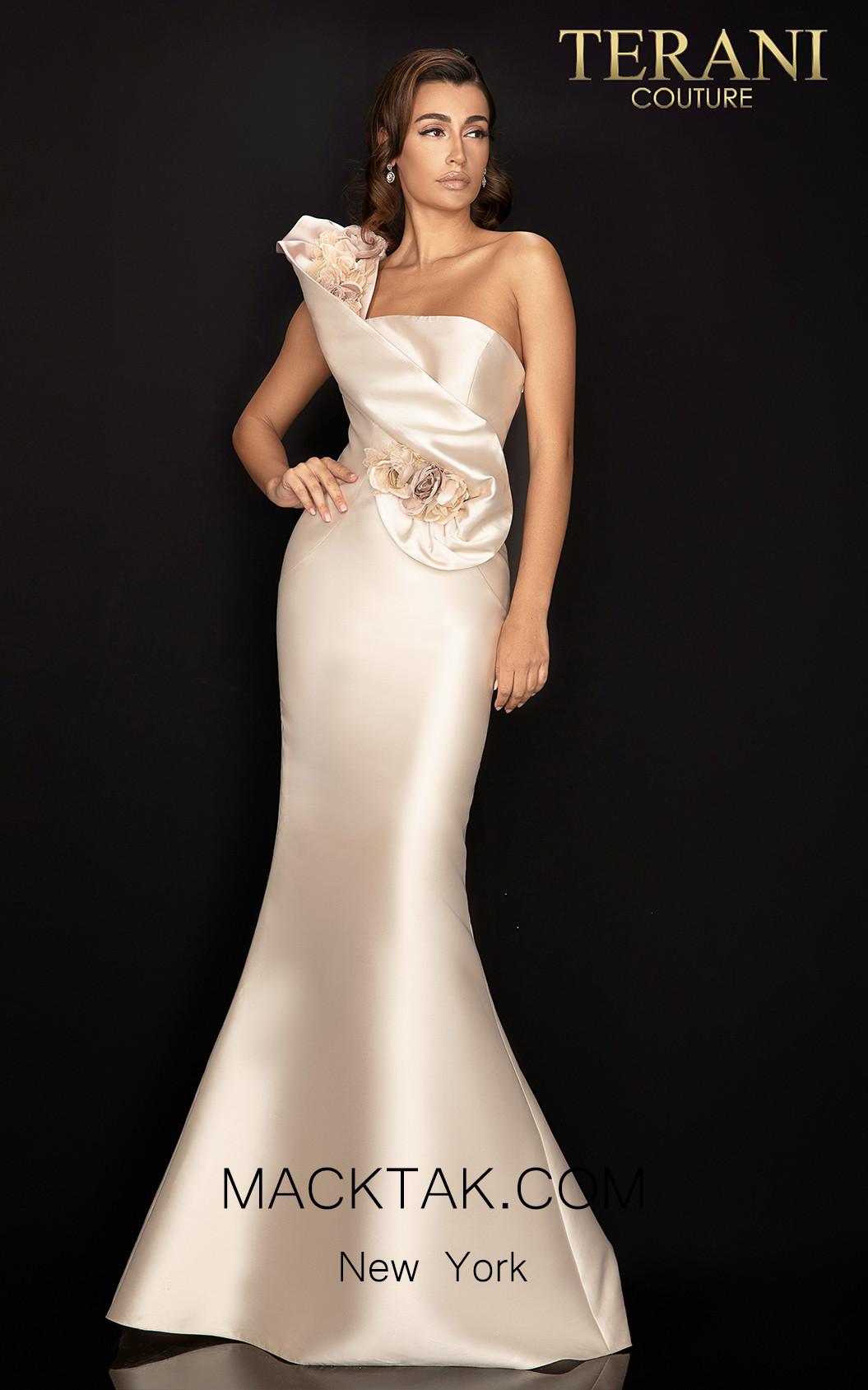 Terani 2011E2424 Champagne Front Dress