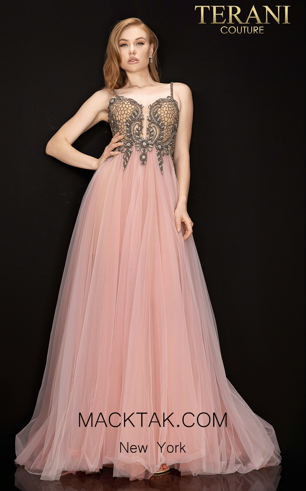 Terani 2011P1070 Lilac Front Dress