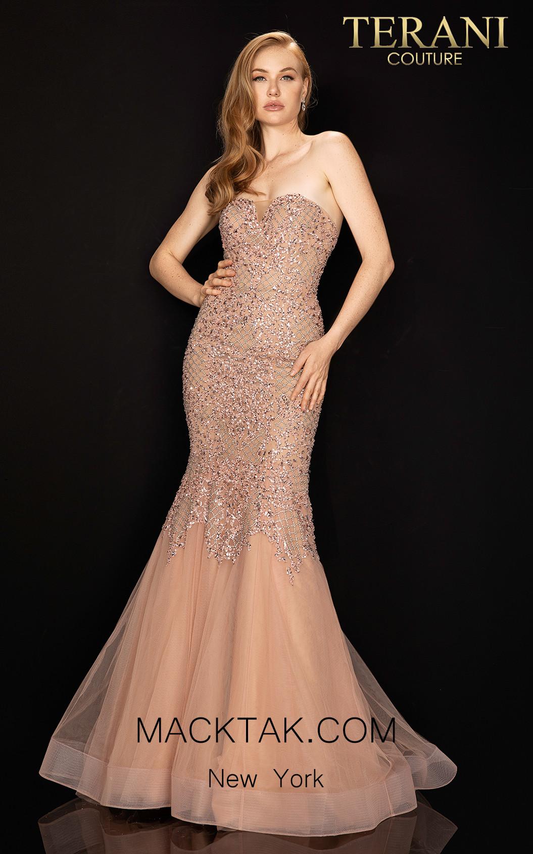 Terani 2011P1148 Blush Nude Front Dress
