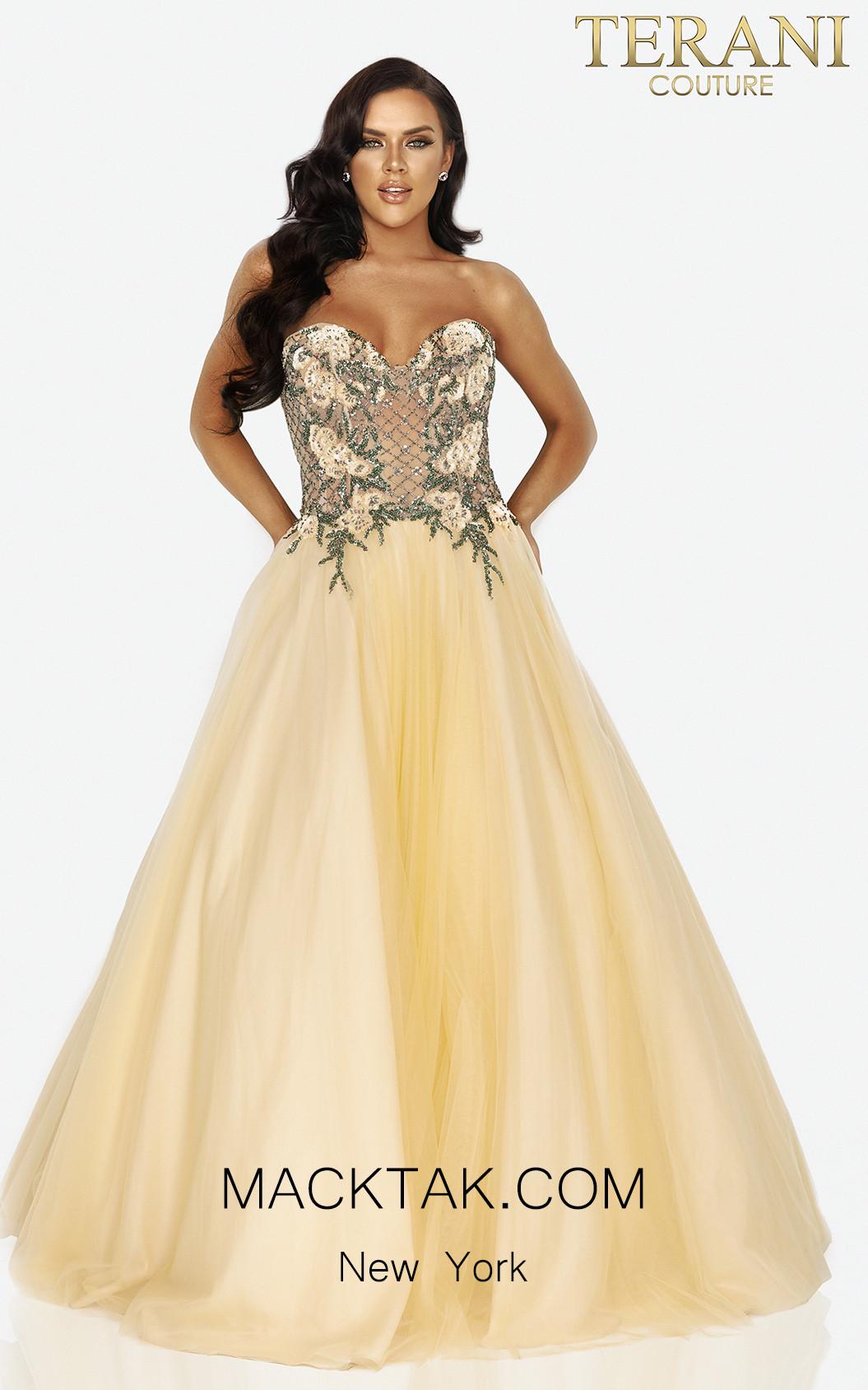 Terani 2011P1149 Butter Front Dress