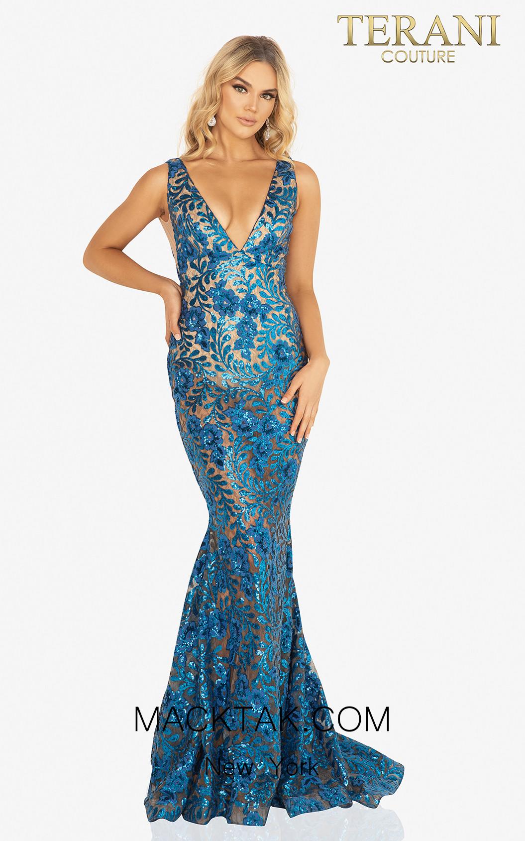 Terani 2011P1154 Royal Nude Front Dress