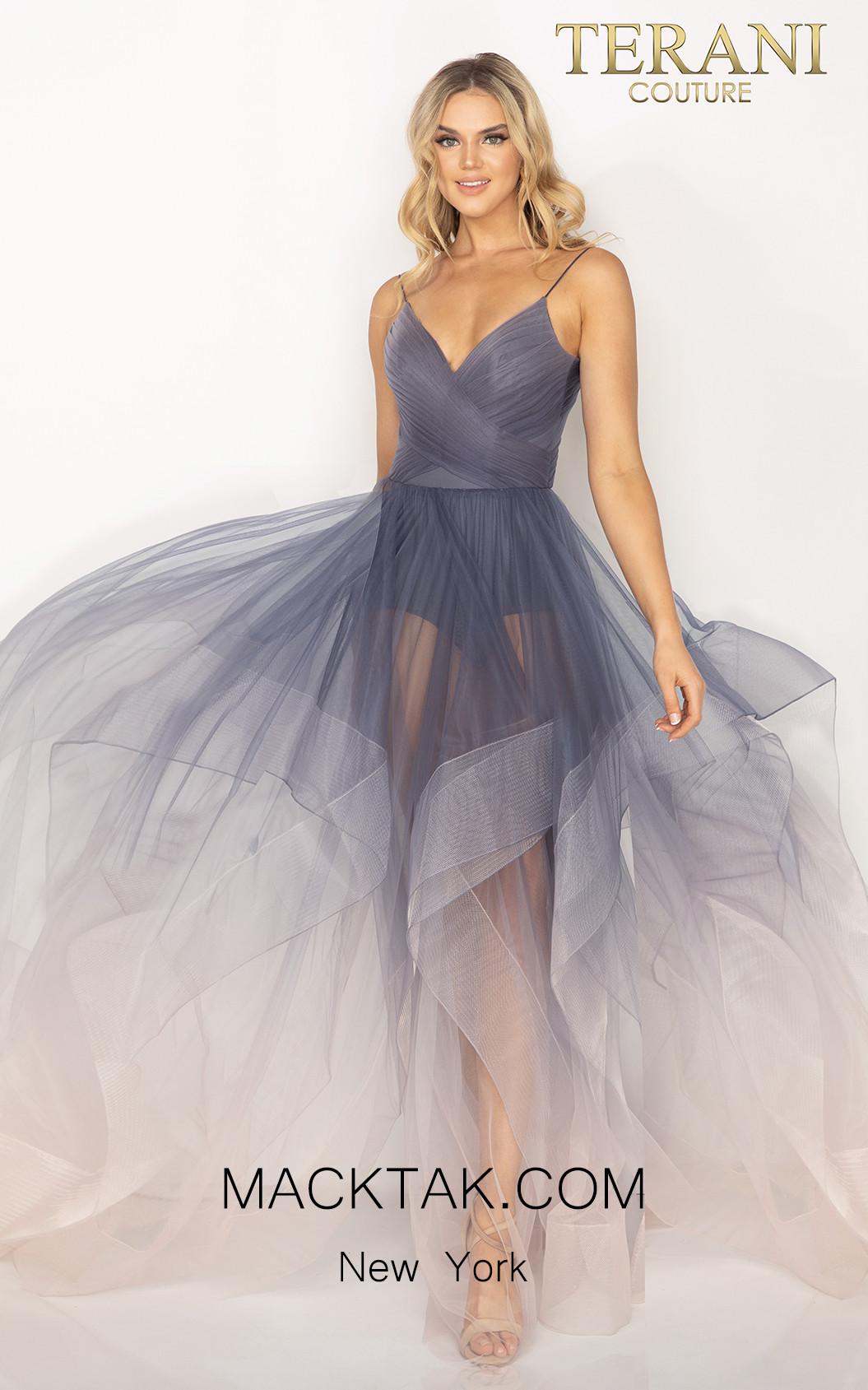 Terani 2011P1212 Blush Mauve Front Dress